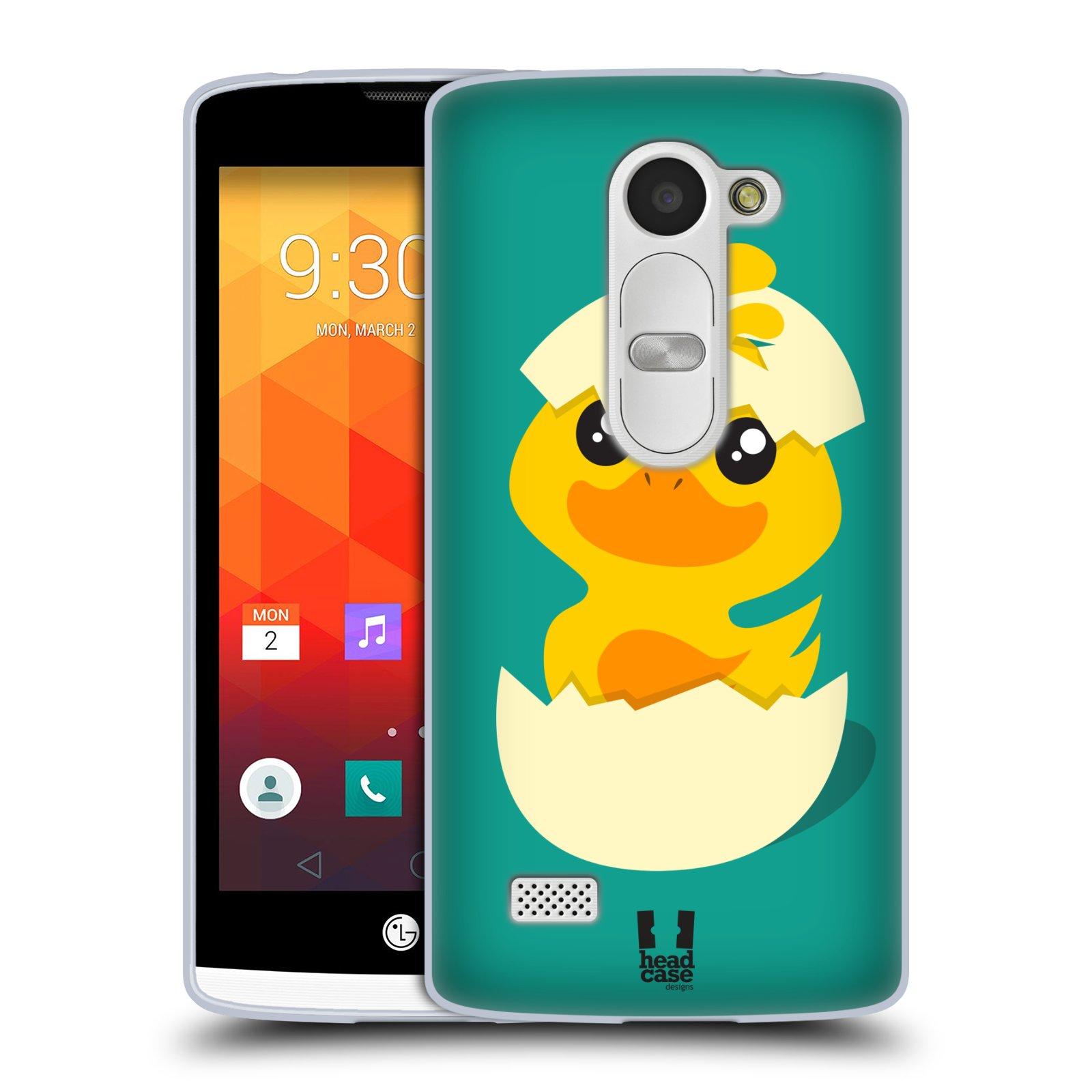 Silikonové pouzdro na mobil LG Leon LTE HEAD CASE KACHNIČKA Z VAJÍČKA (Silikonový kryt či obal na mobilní telefon LG Leon H320 a LG Leon LTE H340N)