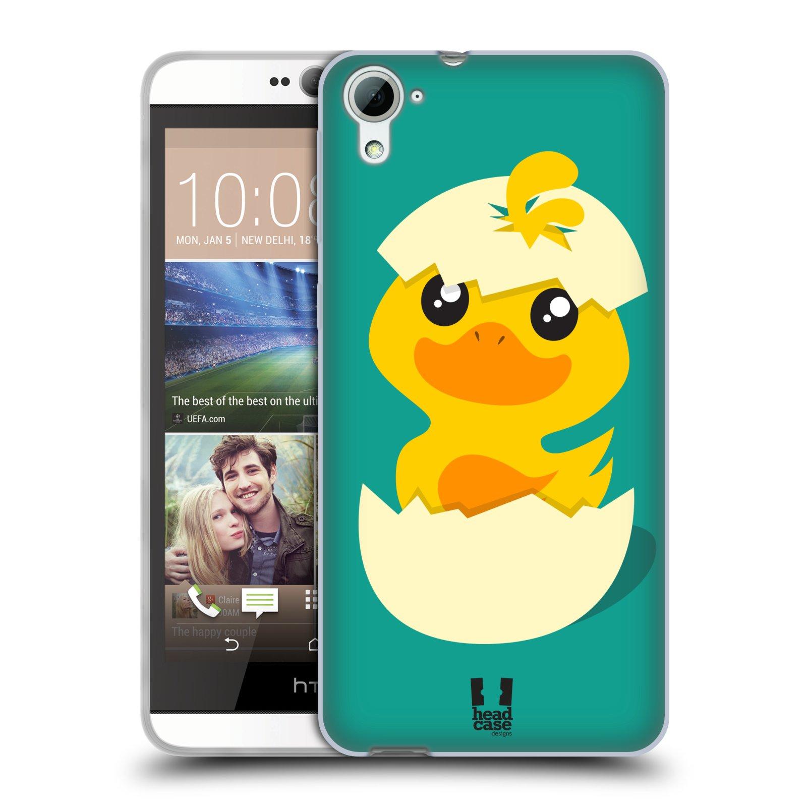 Silikonové pouzdro na mobil HTC Desire 826 HEAD CASE KACHNIČKA Z VAJÍČKA (Silikonový kryt či obal na mobilní telefon HTC Desire 826 Dual SIM)