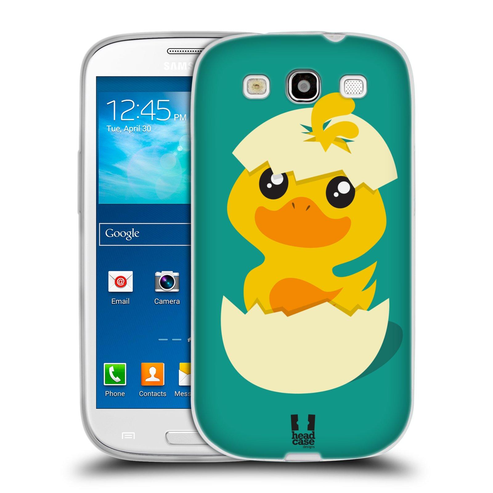 Silikonové pouzdro na mobil Samsung Galaxy S III HEAD CASE KACHNIČKA Z VAJÍČKA (Silikonový kryt či obal na mobilní telefon Samsung Galaxy S III GT-i9300)