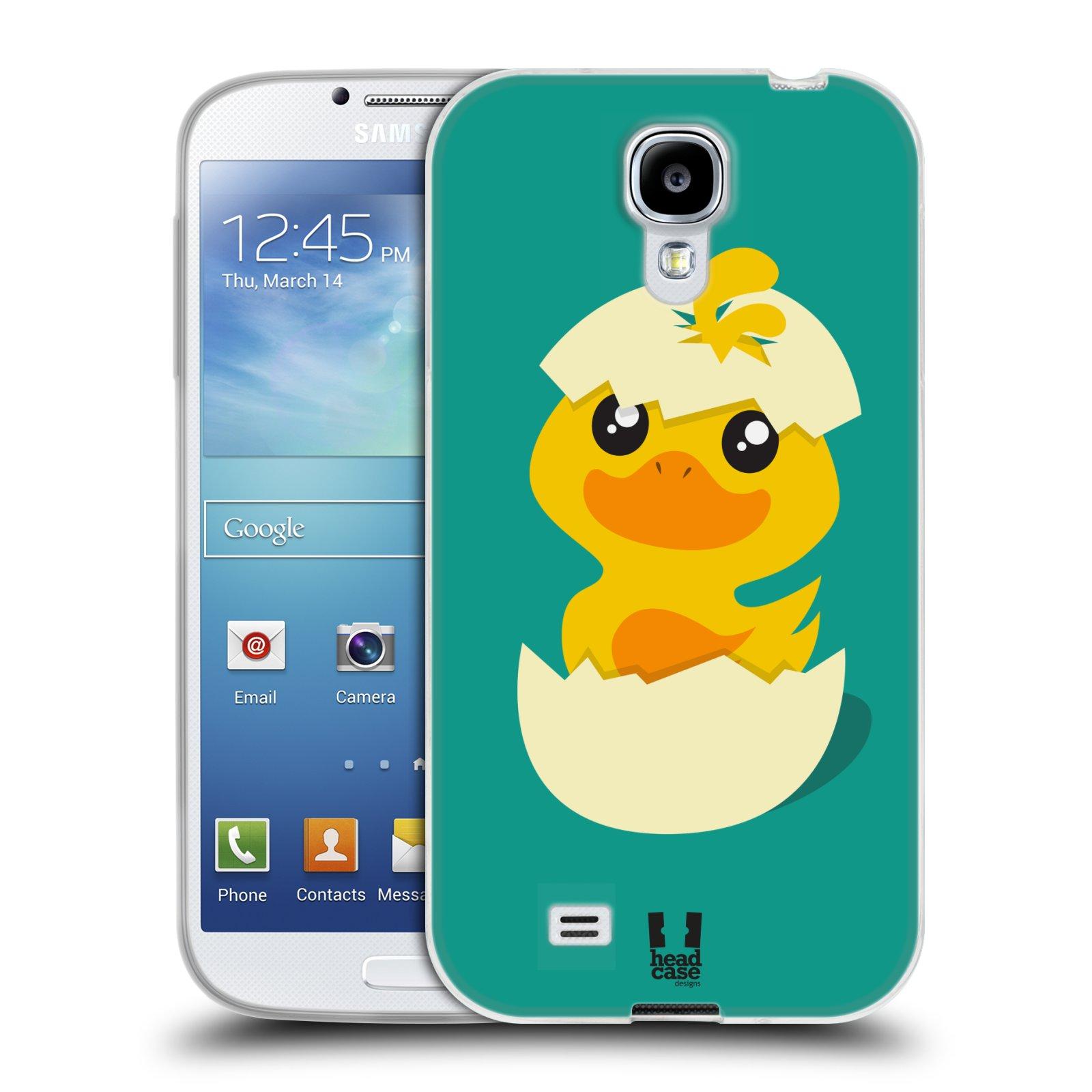 Silikonové pouzdro na mobil Samsung Galaxy S4 HEAD CASE KACHNIČKA Z VAJÍČKA (Silikonový kryt či obal na mobilní telefon Samsung Galaxy S4 GT-i9505 / i9500)