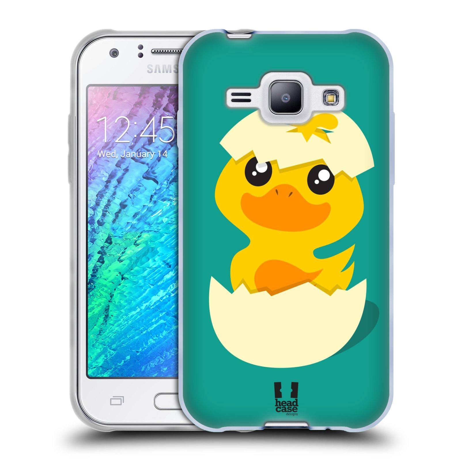 Silikonové pouzdro na mobil Samsung Galaxy J1 HEAD CASE KACHNIČKA Z VAJÍČKA (Silikonový kryt či obal na mobilní telefon Samsung Galaxy J1 a J1 Duos)