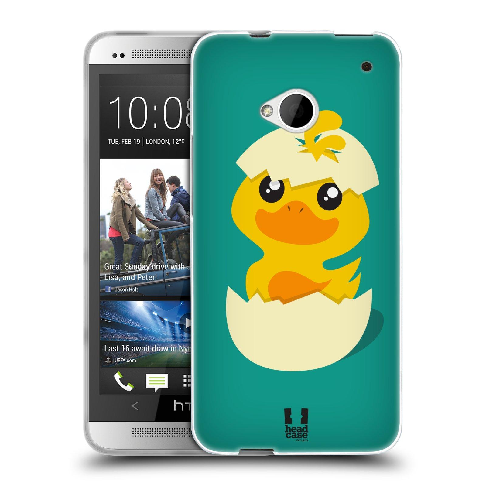 Silikonové pouzdro na mobil HTC ONE M7 HEAD CASE KACHNIČKA Z VAJÍČKA (Silikonový kryt či obal na mobilní telefon HTC ONE M7)