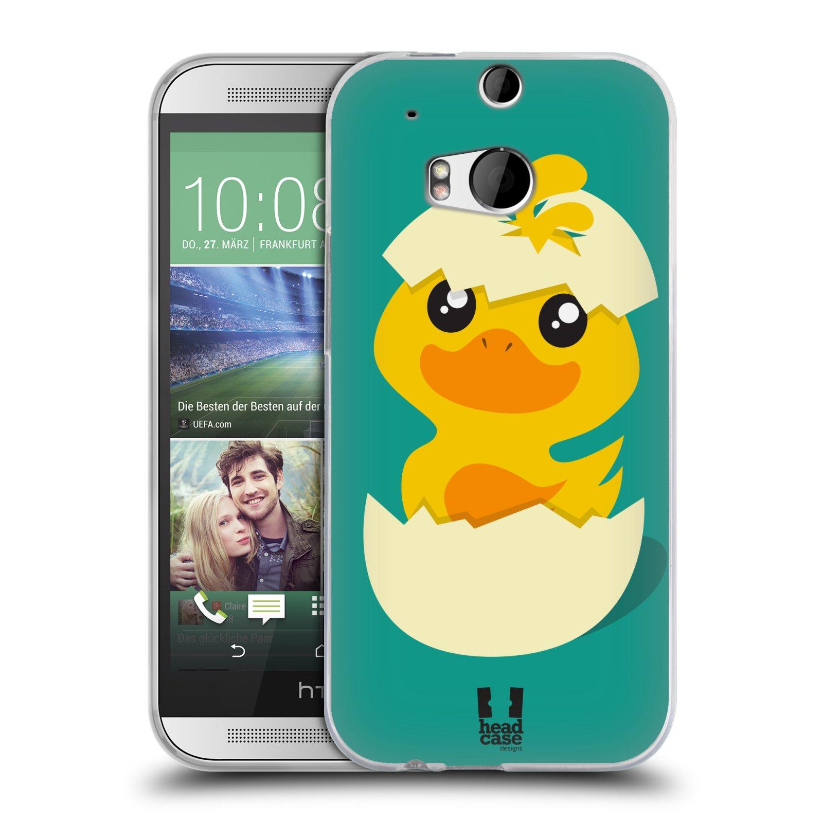 Silikonové pouzdro na mobil HTC ONE M8 HEAD CASE KACHNIČKA Z VAJÍČKA (Silikonový kryt či obal na mobilní telefon HTC ONE M8)
