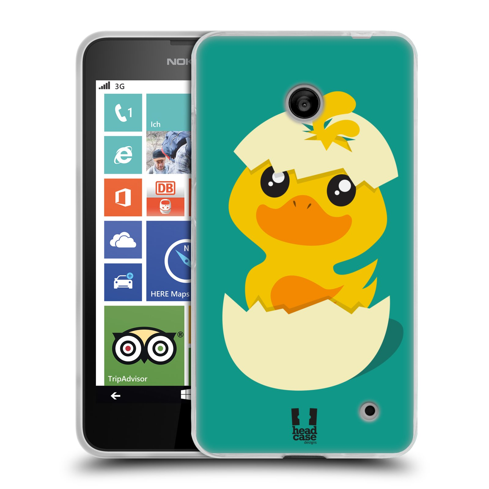 Silikonové pouzdro na mobil Nokia Lumia 630 HEAD CASE KACHNIČKA Z VAJÍČKA (Silikonový kryt či obal na mobilní telefon Nokia Lumia 630 a Nokia Lumia 630 Dual SIM)