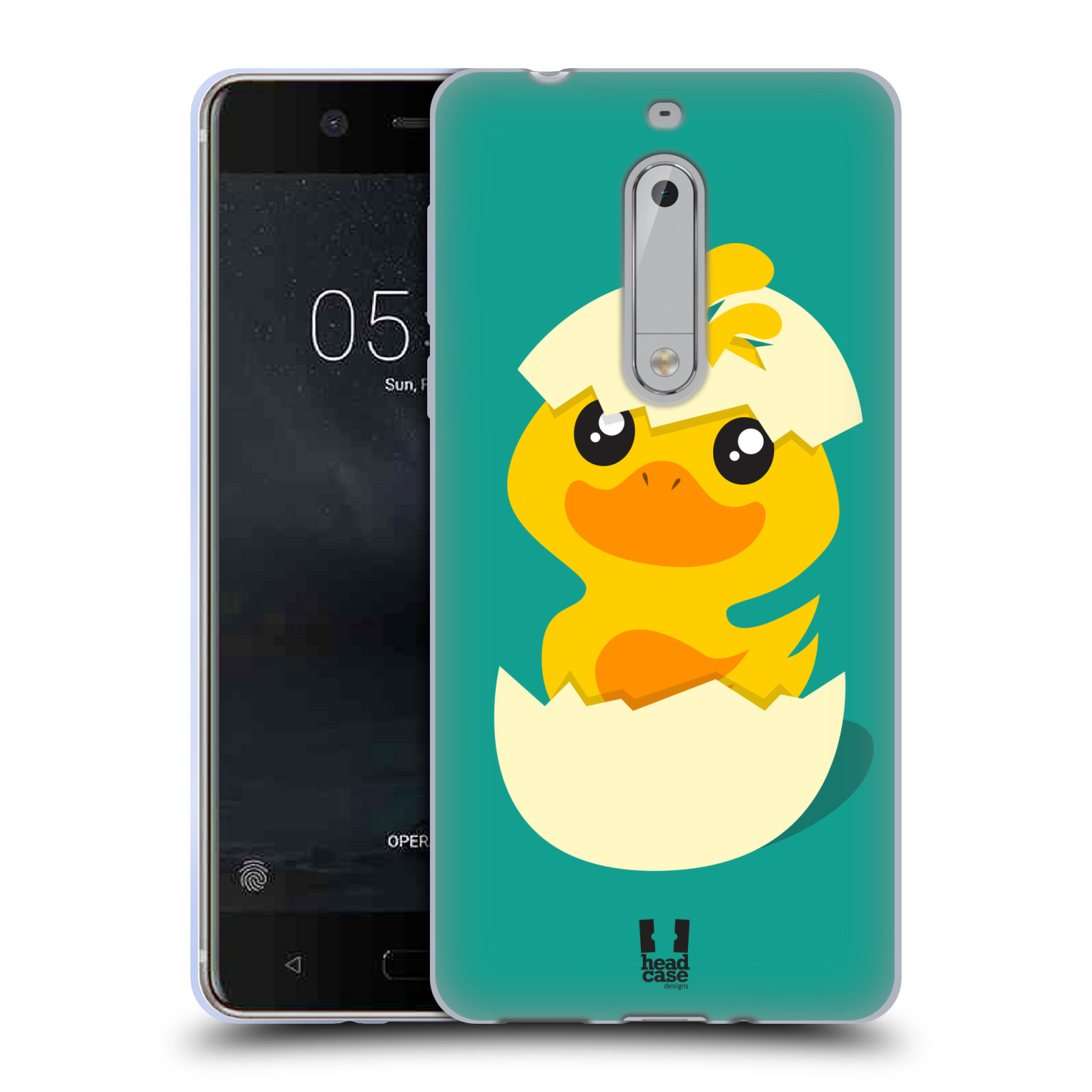 Silikonové pouzdro na mobil Nokia 5 Head Case - KACHNIČKA Z VAJÍČKA (Silikonový kryt či obal na mobilní telefon Nokia 5 (2017))
