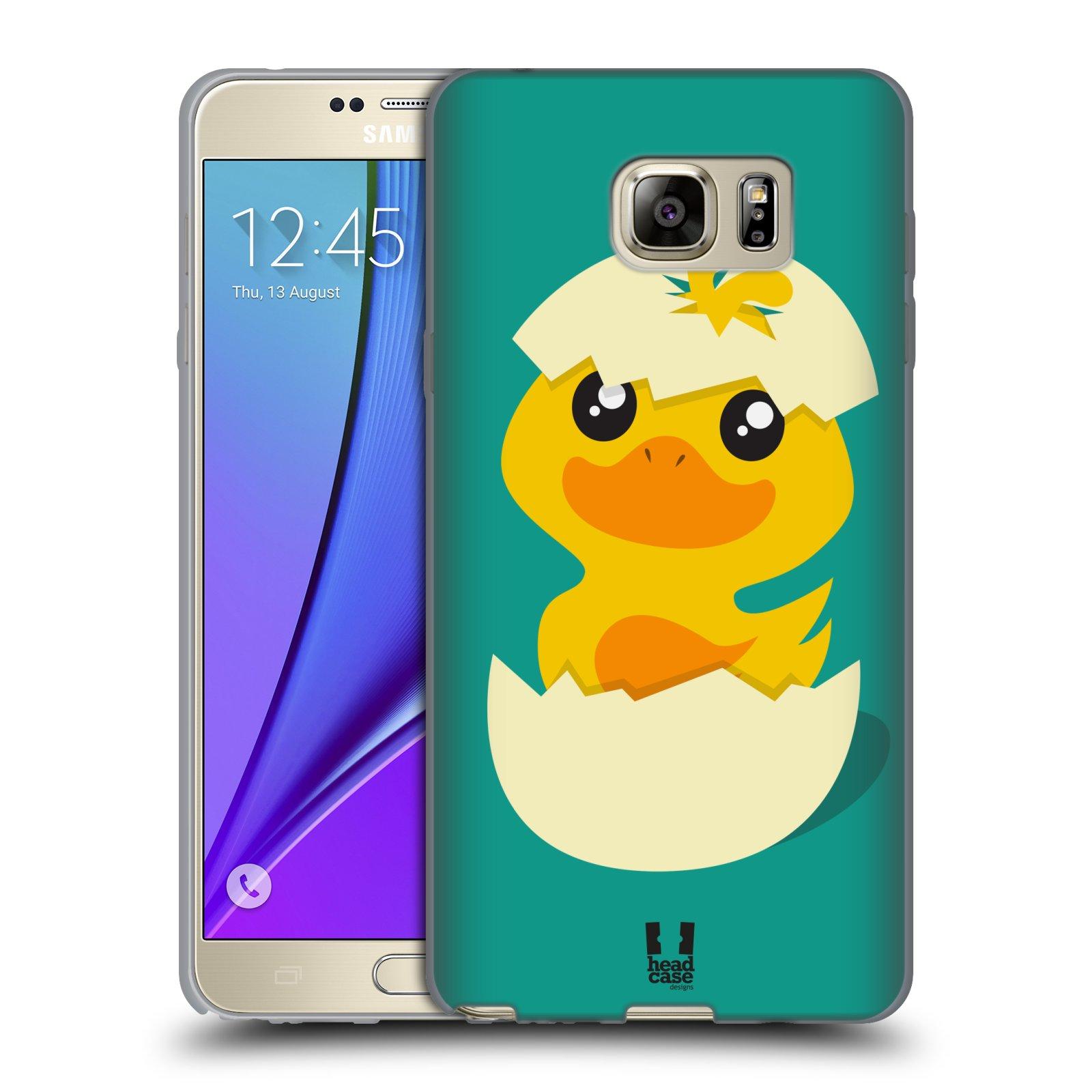 Silikonové pouzdro na mobil Samsung Galaxy Note 5 HEAD CASE KACHNIČKA Z VAJÍČKA (Silikonový kryt či obal na mobilní telefon Samsung Galaxy Note 5 SM-N920)