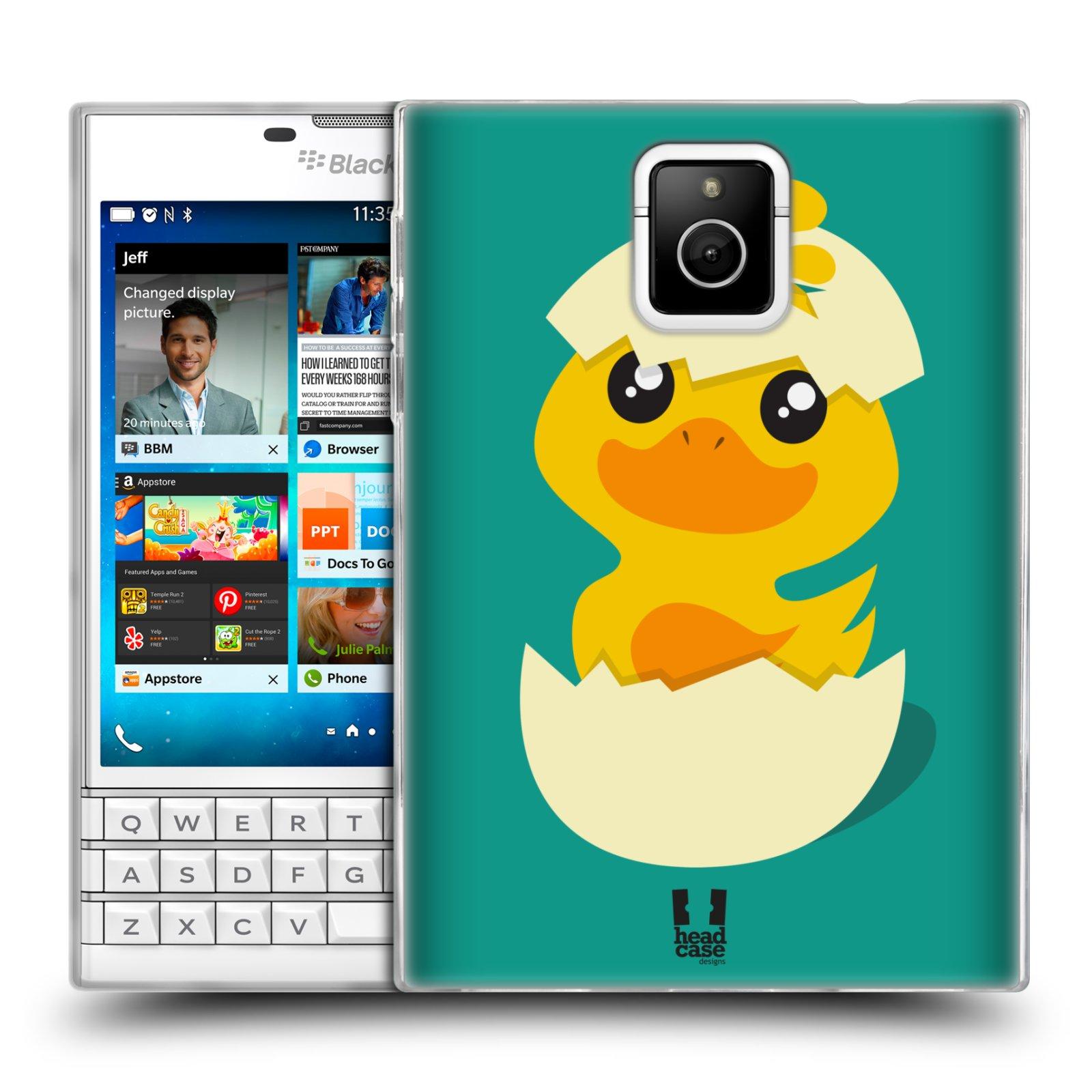 Silikonové pouzdro na mobil Blackberry PASSPORT HEAD CASE KACHNIČKA Z VAJÍČKA (Silikonový kryt či obal na mobilní telefon Blackberry PASSPORT)