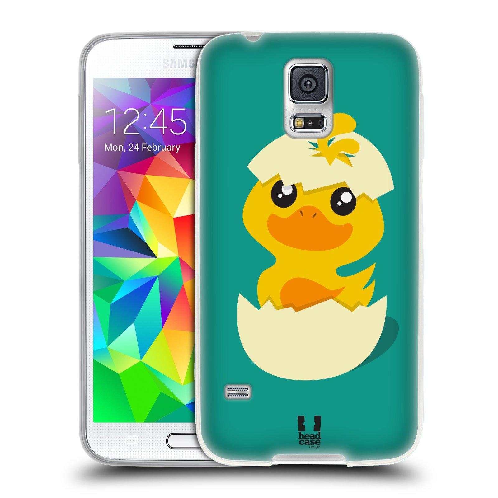 Silikonové pouzdro na mobil Samsung Galaxy S5 HEAD CASE KACHNIČKA Z VAJÍČKA (Silikonový kryt či obal na mobilní telefon Samsung Galaxy S5 SM-G900F)