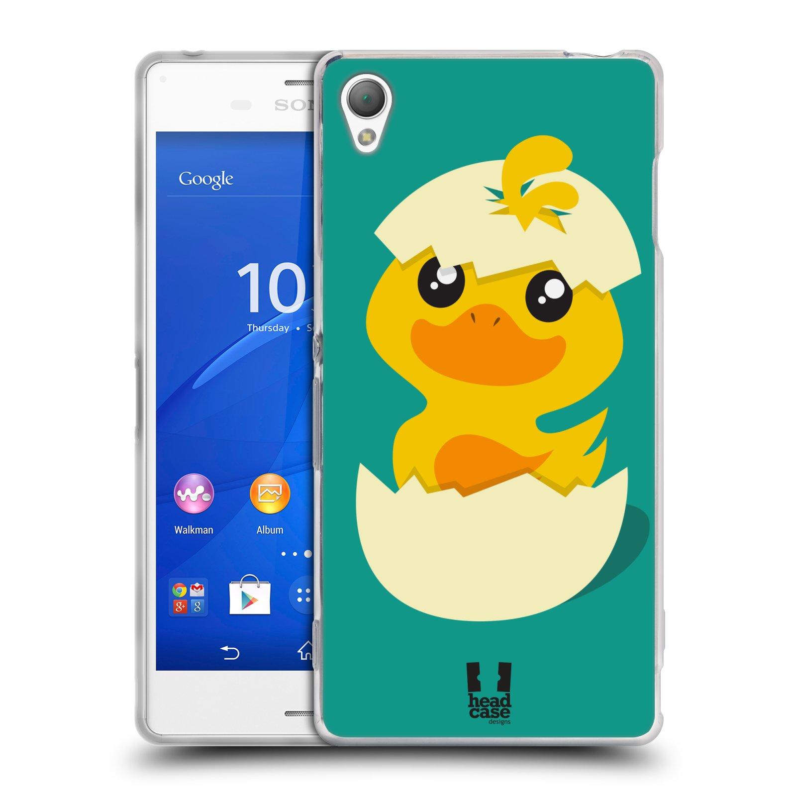 Silikonové pouzdro na mobil Sony Xperia Z3 D6603 HEAD CASE KACHNIČKA Z VAJÍČKA (Silikonový kryt či obal na mobilní telefon Sony Xperia Z3)