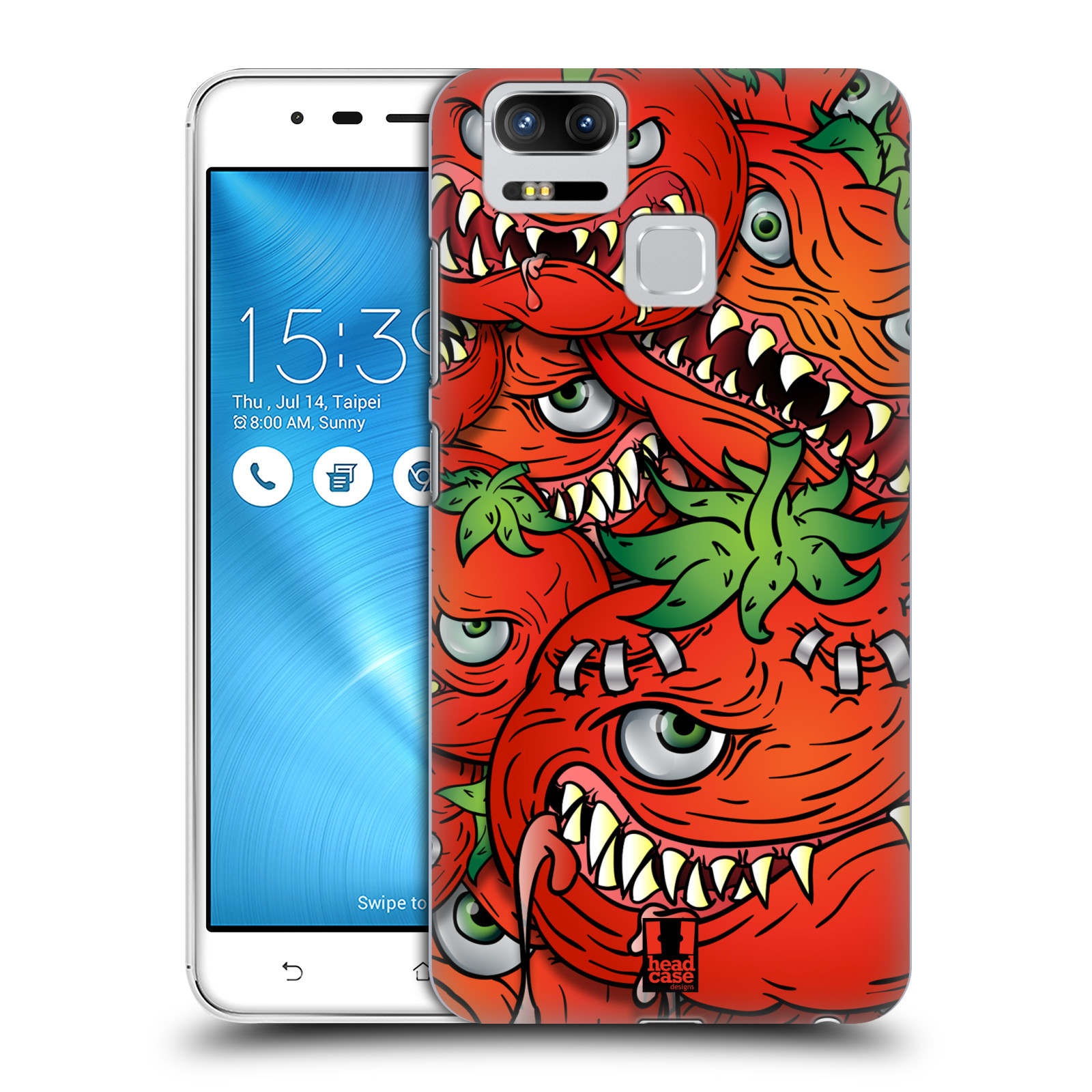 Plastové pouzdro na mobil Asus ZenFone 3 ZOOM ZE553KL - Head Case - Rajčátka (Plastový kryt či obal na mobilní telefon Asus ZenFone 3 ZOOM ZE553KL s motivem Rajčátka)