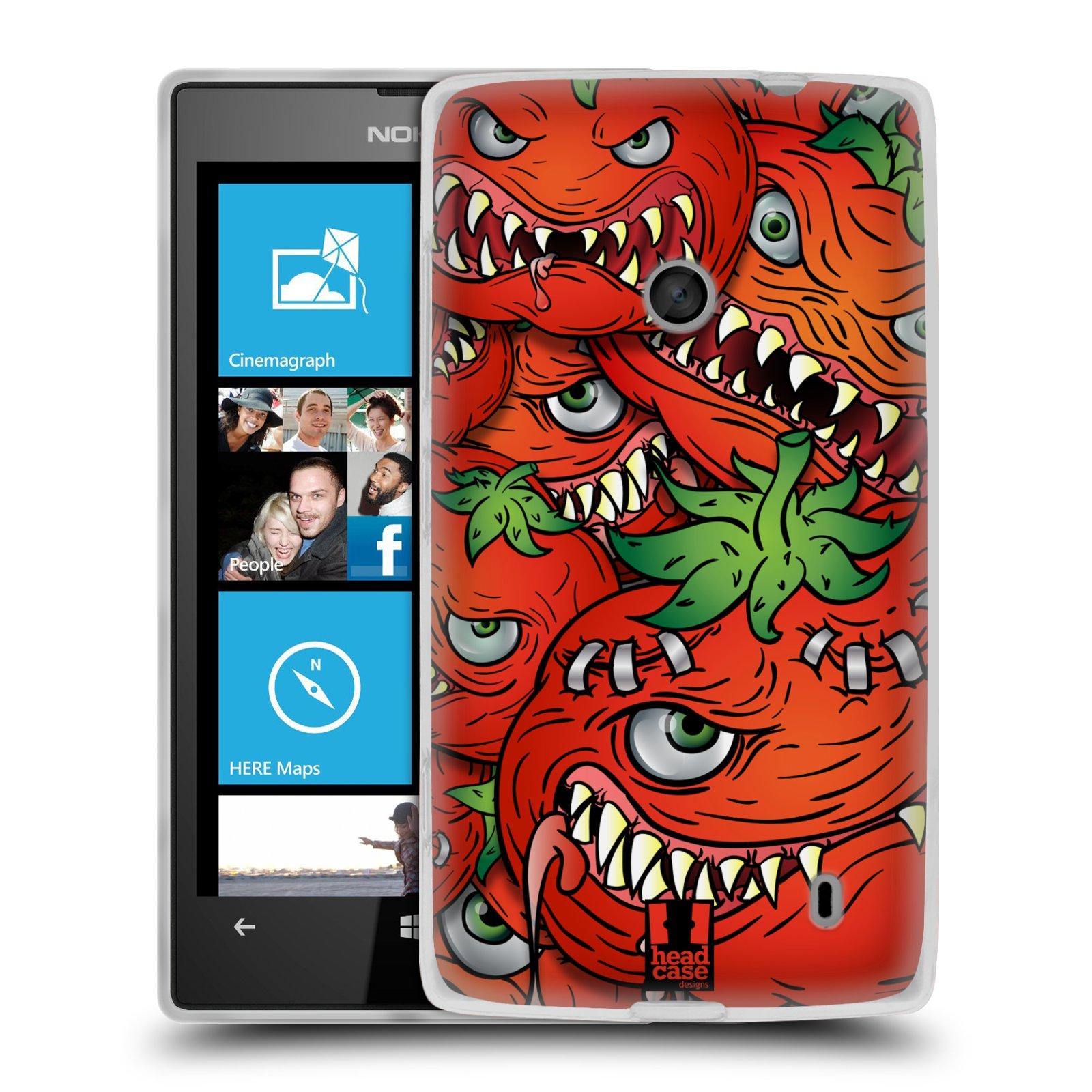 Silikonové pouzdro na mobil Nokia Lumia 520 HEAD CASE Rajčátka (Silikonový Kryt či obal na mobilní telefon Nokia Lumia 520)