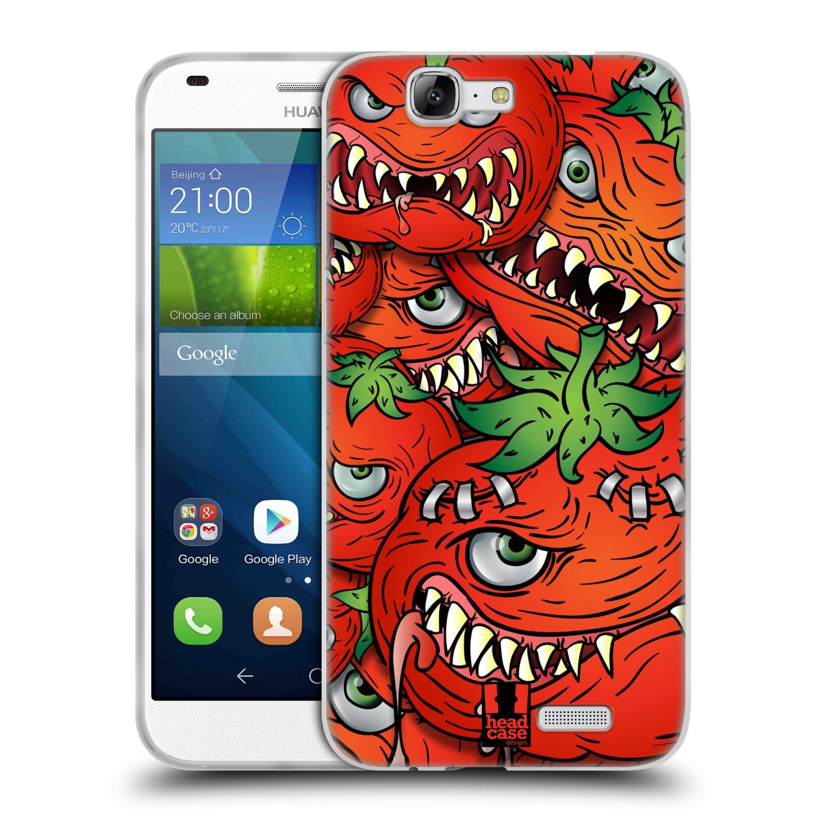 Silikonové pouzdro na mobil Huawei Ascend G7 HEAD CASE Rajčátka (Silikonový kryt či obal na mobilní telefon Huawei Ascend G7)