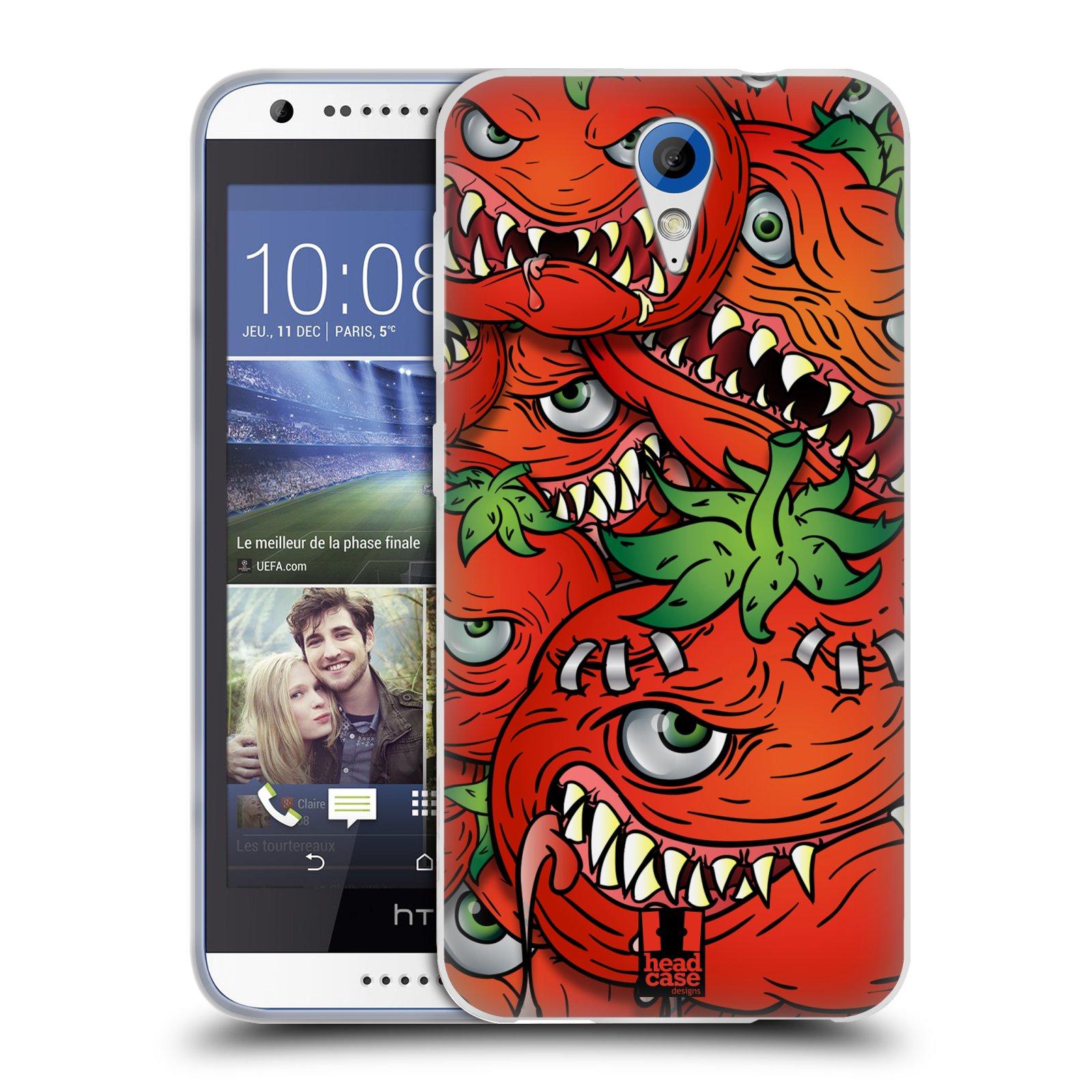 Silikonové pouzdro na mobil HTC Desire 620 HEAD CASE Rajčátka (Silikonový kryt či obal na mobilní telefon HTC Desire 620)