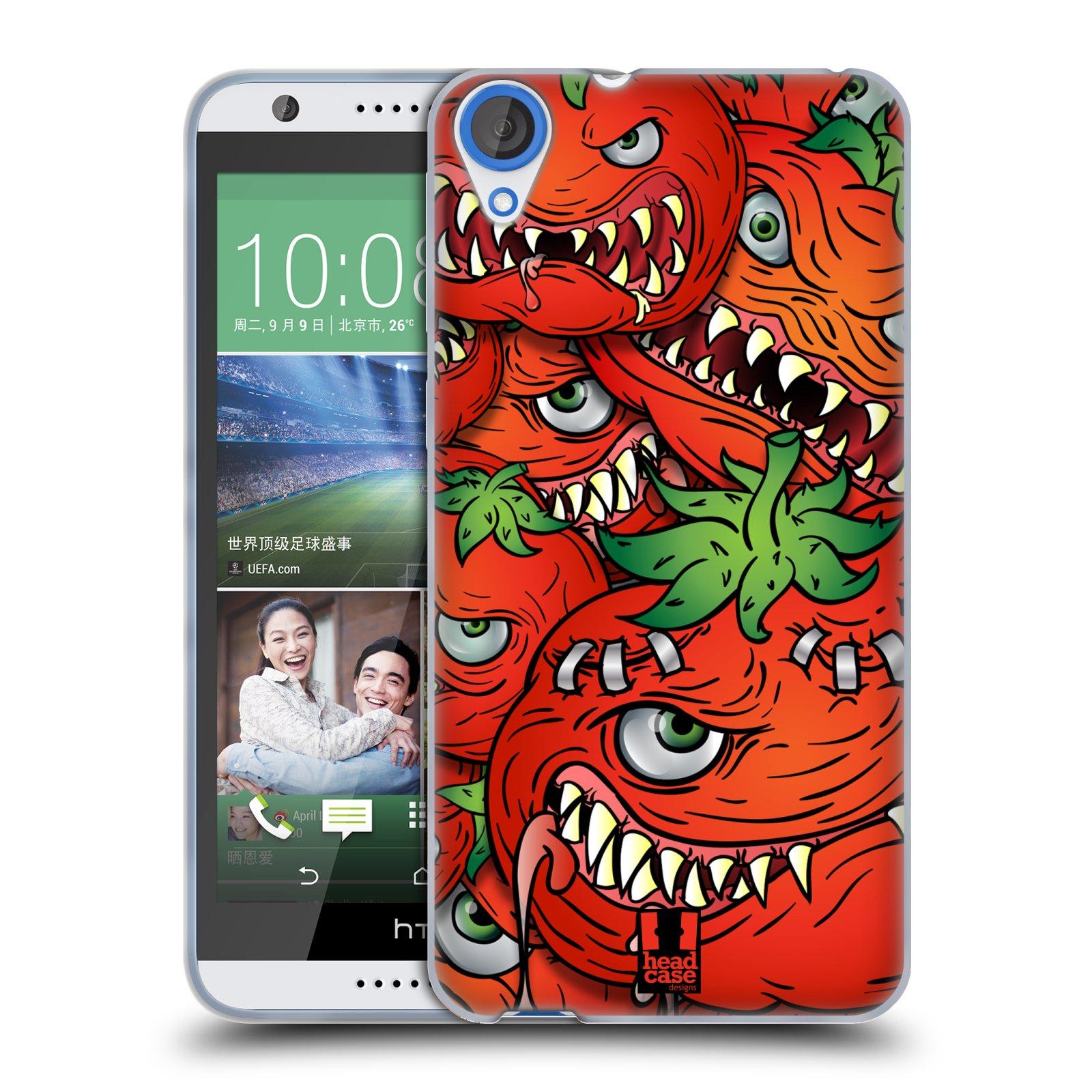 Silikonové pouzdro na mobil HTC Desire 820 HEAD CASE Rajčátka (Silikonový kryt či obal na mobilní telefon HTC Desire 820)