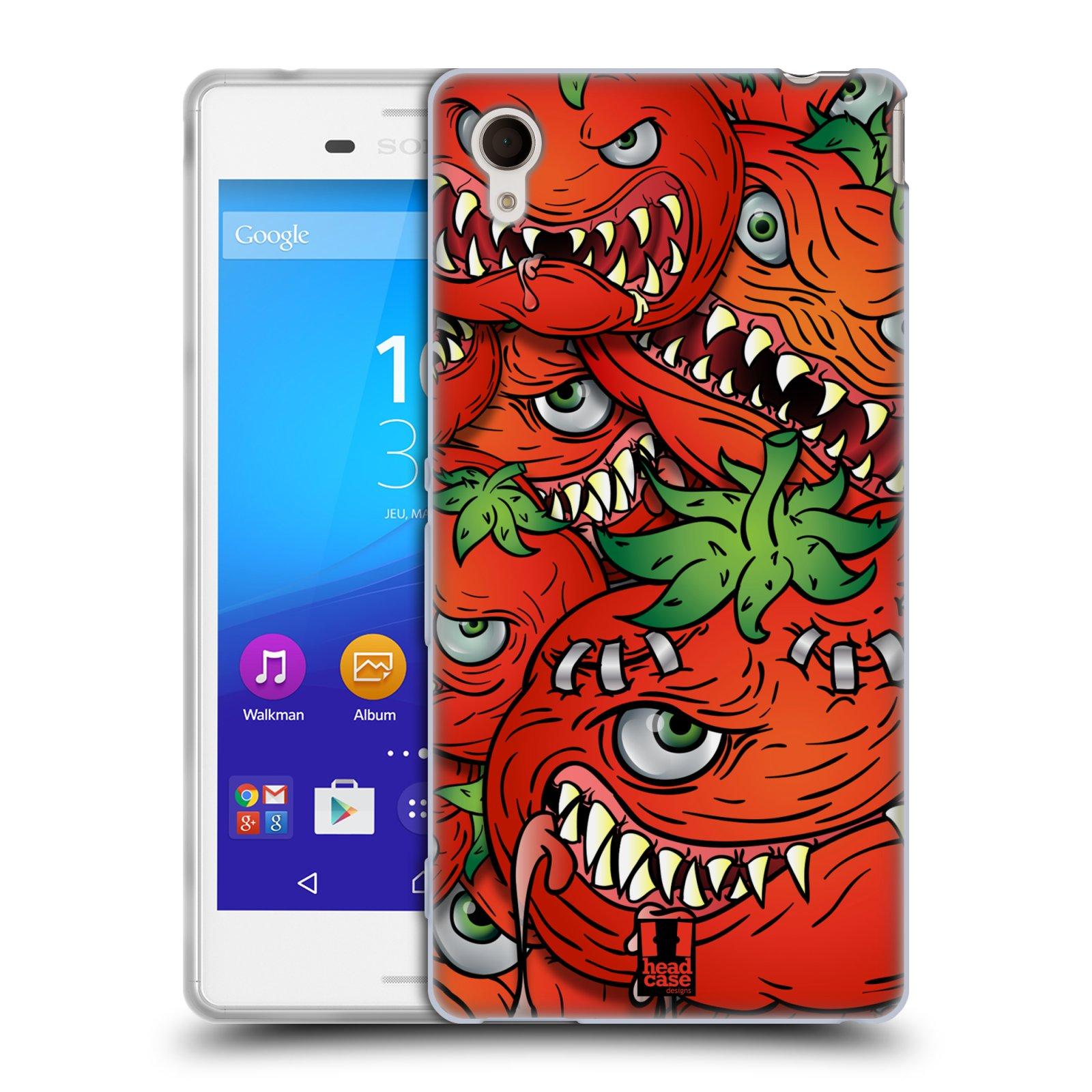 Silikonové pouzdro na mobil Sony Xperia M4 Aqua E2303 HEAD CASE Rajčátka (Silikonový kryt či obal na mobilní telefon Sony Xperia M4 Aqua a M4 Aqua Dual SIM)
