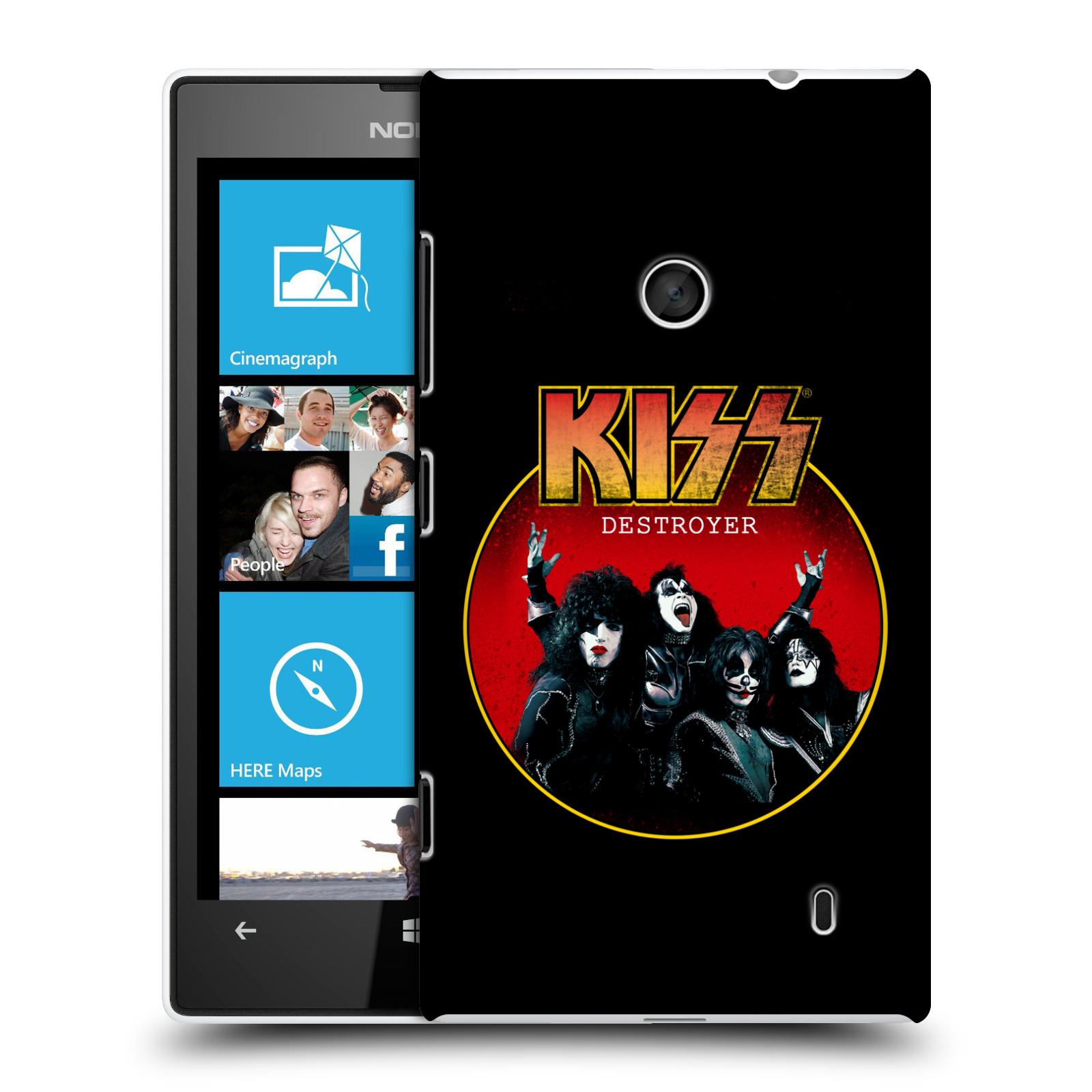 Plastové pouzdro na mobil Nokia Lumia 520 HEAD CASE - Kiss - Destroyer