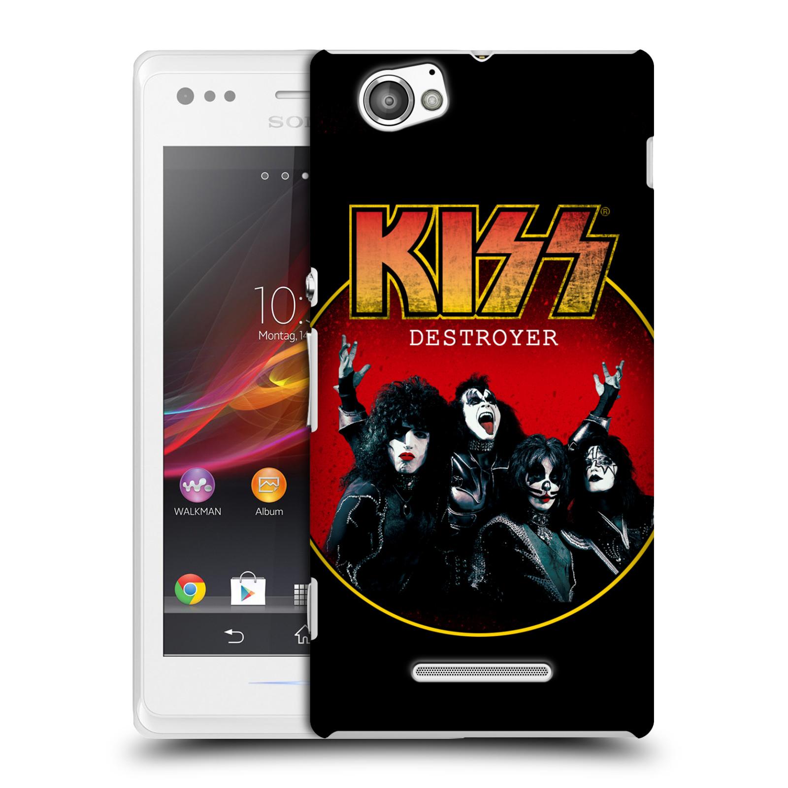 Plastové pouzdro na mobil Sony Xperia M C1905 HEAD CASE - Kiss - Destroyer