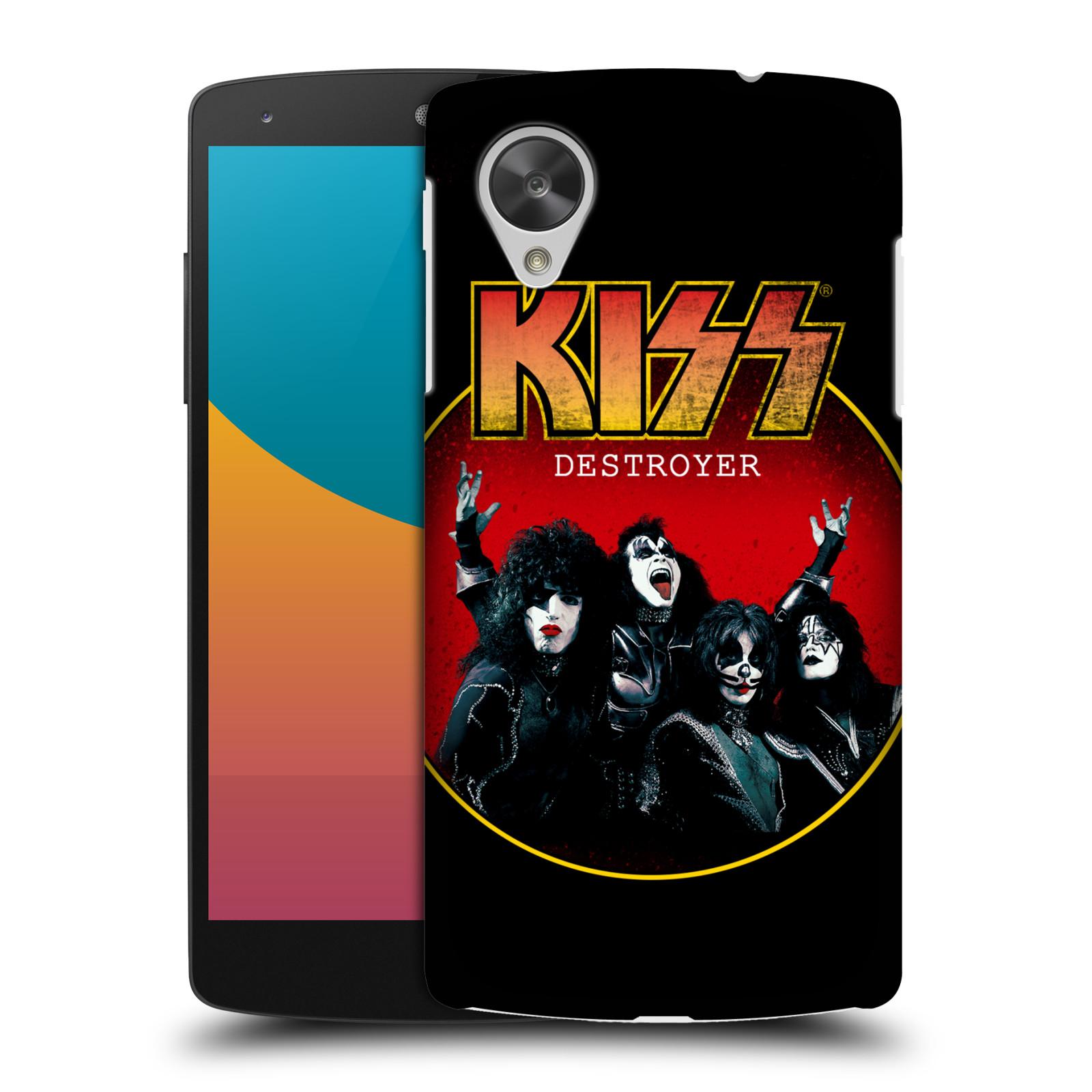Plastové pouzdro na mobil LG Nexus 5 HEAD CASE - Kiss - Destroyer (Plastový kryt či obal na mobilní telefon s licencovaným motivem Kiss pro LG Google Nexus 5 D821)