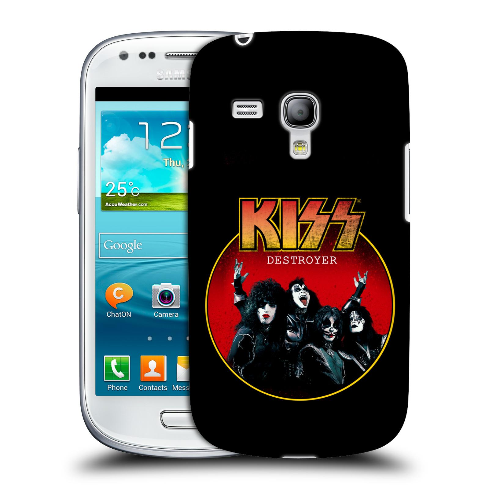 Silikonové pouzdro na mobil Samsung Galaxy S III Mini VE HEAD CASE - Kiss - Destroyer (Plastový kryt či obal na mobilní telefon s licencovaným motivem Kiss pro Samsung Galaxy S3 Mini VE GT-i8200)