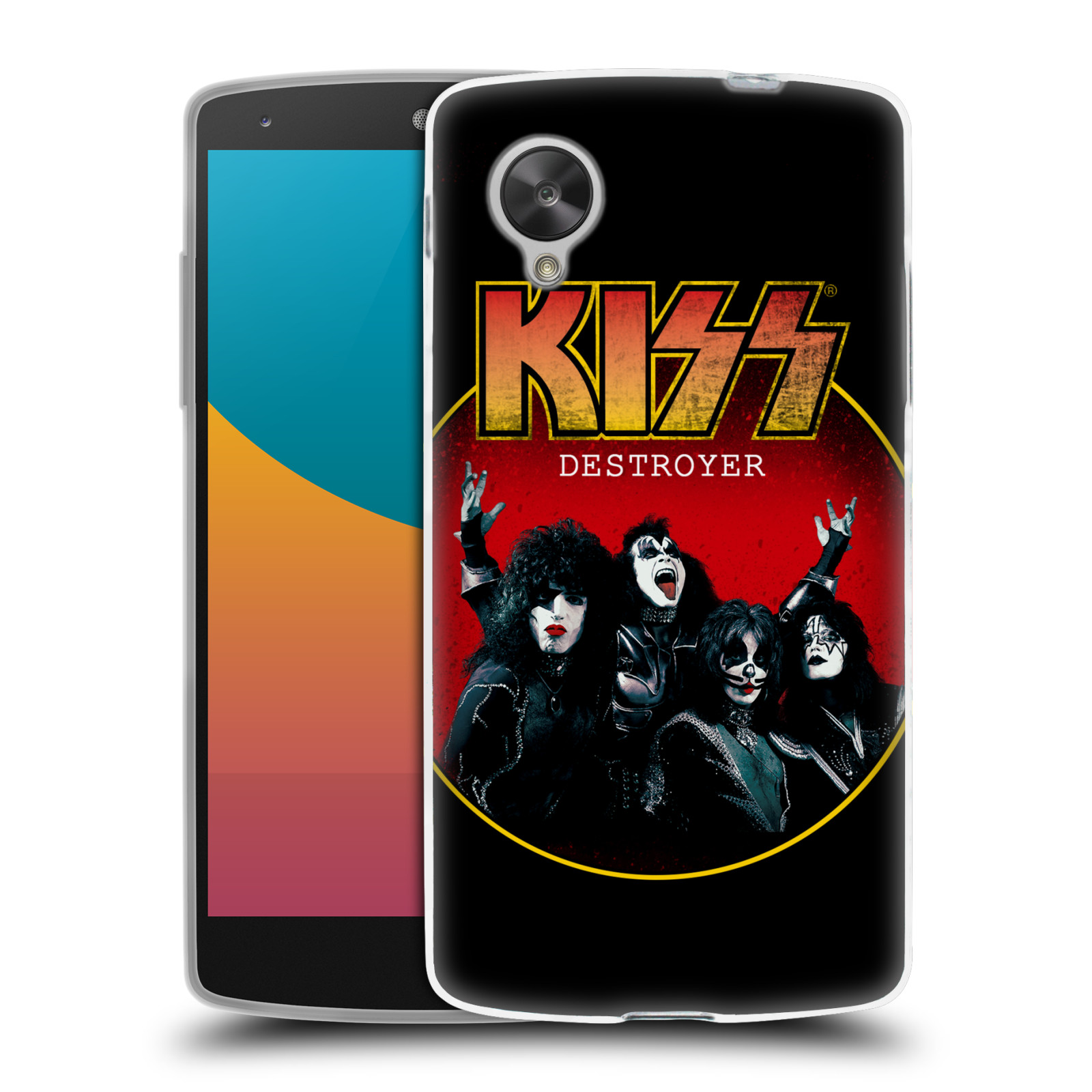 Silikonové pouzdro na mobil LG Nexus 5 HEAD CASE - Kiss - Destroyer (Silikonový kryt či obal na mobilní telefon s licencovaným motivem Kiss pro LG Google Nexus 5 D821)