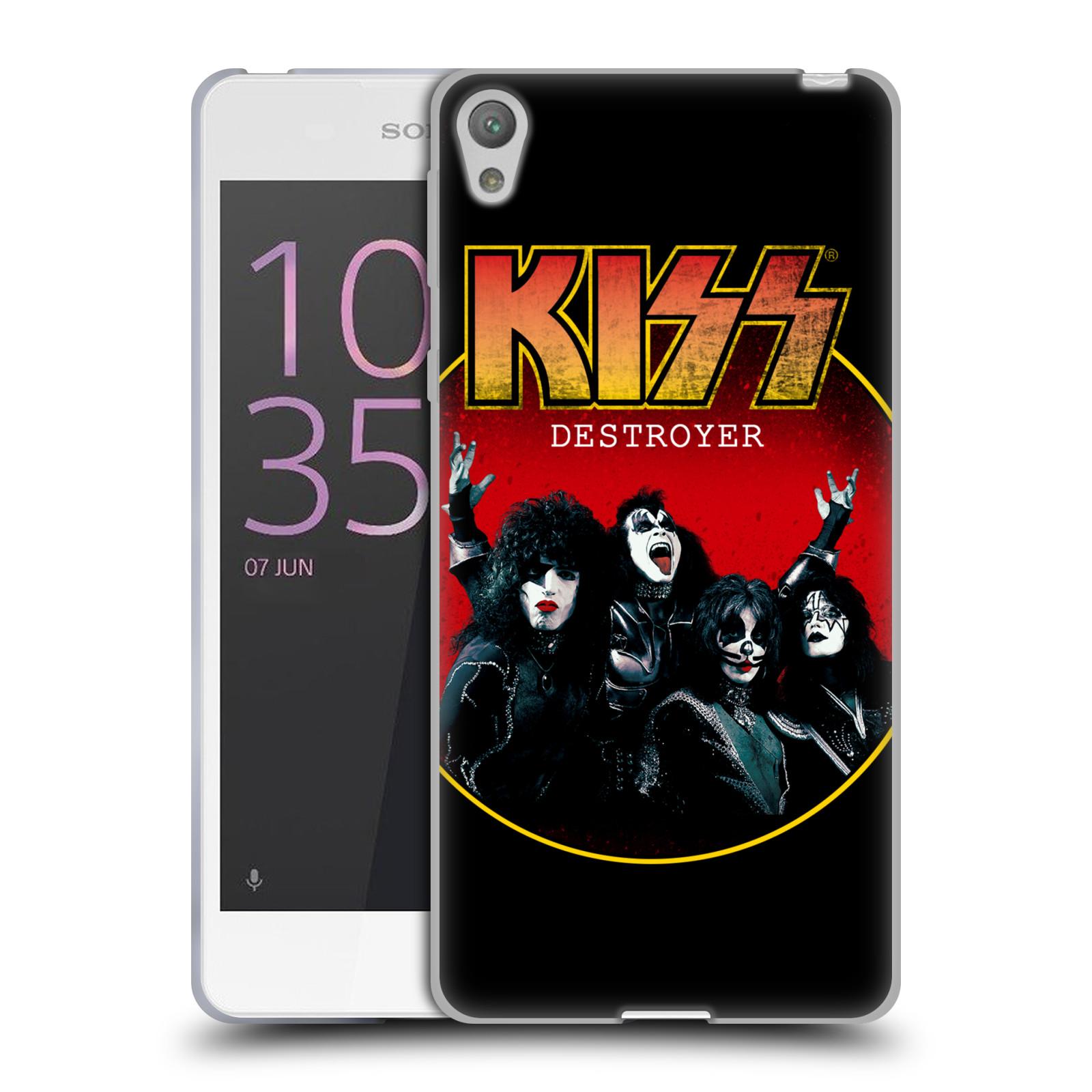 Silikonové pouzdro na mobil Sony Xperia E5 HEAD CASE - Kiss - Destroyer (Silikonový kryt či obal na mobilní telefon s licencovaným motivem Kiss pro Sony Xperia E5 F3311)