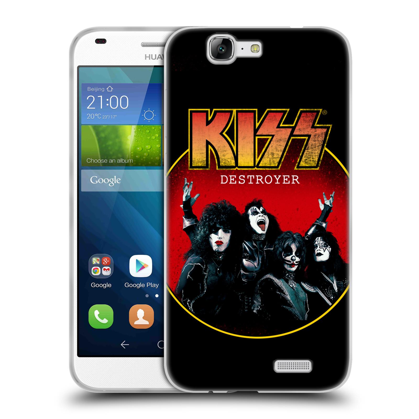 Silikonové pouzdro na mobil Huawei Ascend G7 HEAD CASE - Kiss - Destroyer (Silikonový kryt či obal na mobilní telefon s licencovaným motivem Kiss pro Huawei Ascend G7)