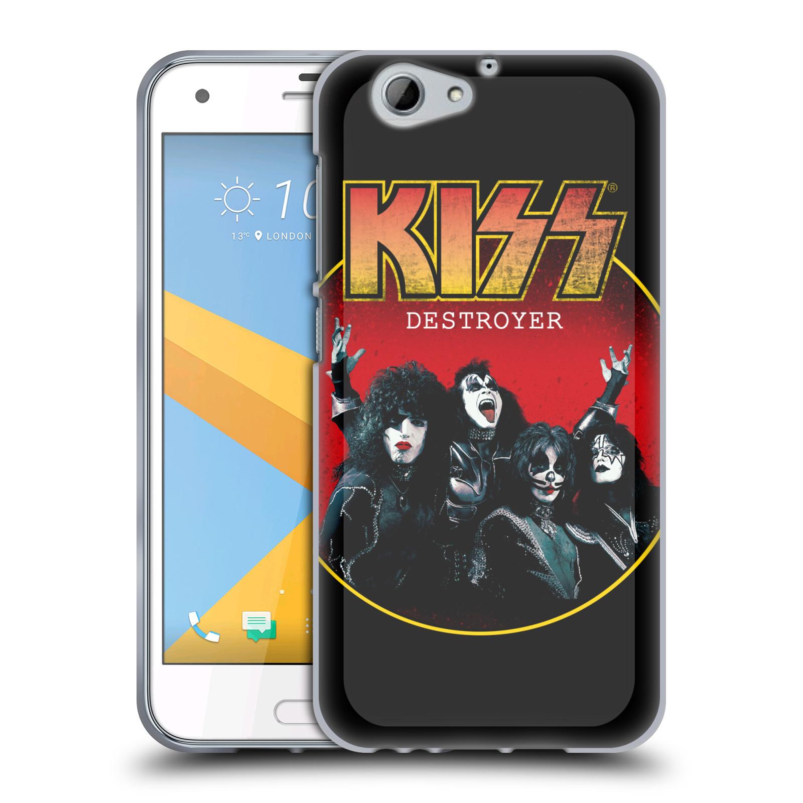 Silikonové pouzdro na mobil HTC One A9s Head Case - Kiss - Destroyer (Silikonový kryt či obal na mobilní telefon s licencovaným motivem Kiss pro HTC One A9s (A9 s))