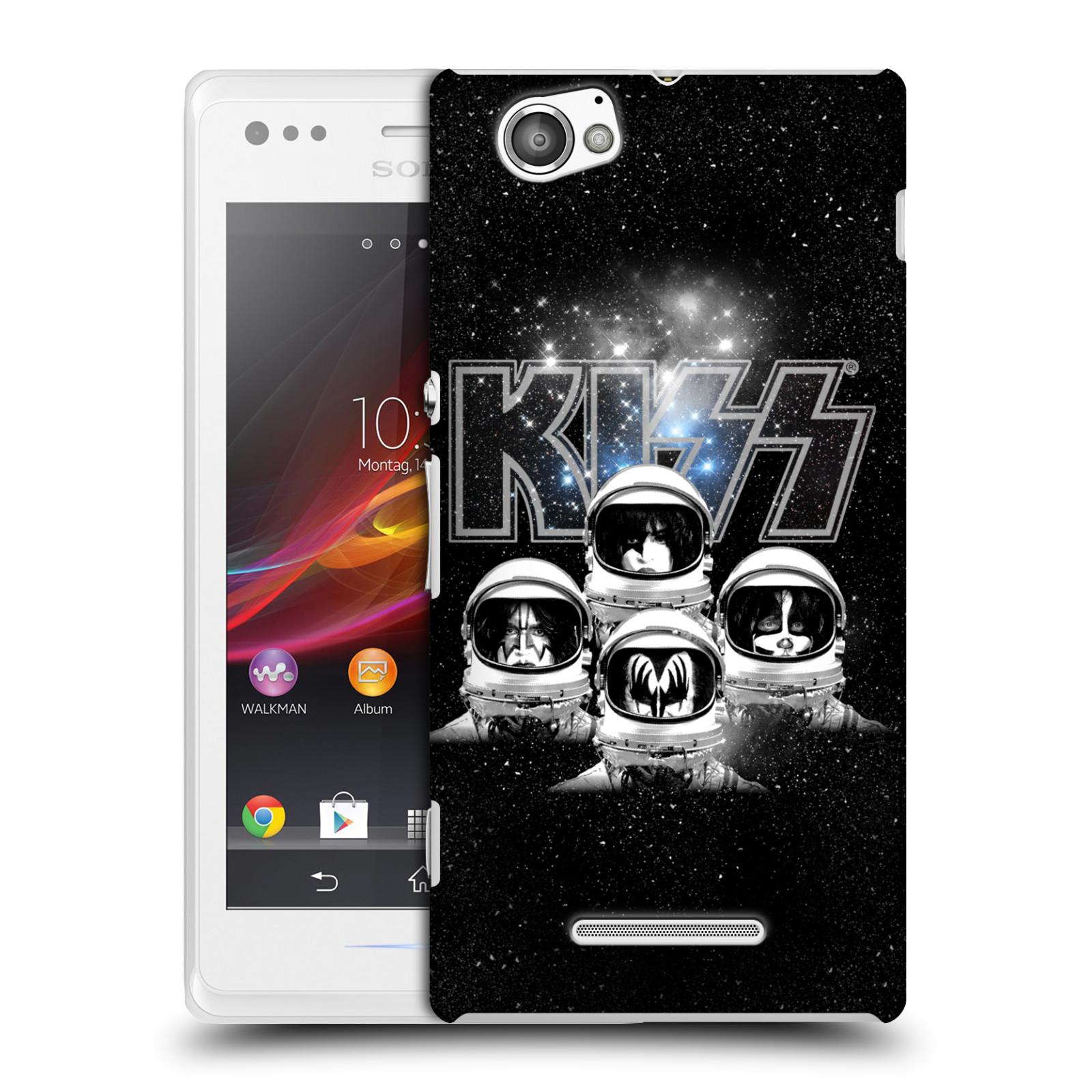 Plastové pouzdro na mobil Sony Xperia M C1905 HEAD CASE - Kiss - Galactic (Plastový kryt či obal na mobilní telefon s licencovaným motivem Kiss pro Sony Xperia M )