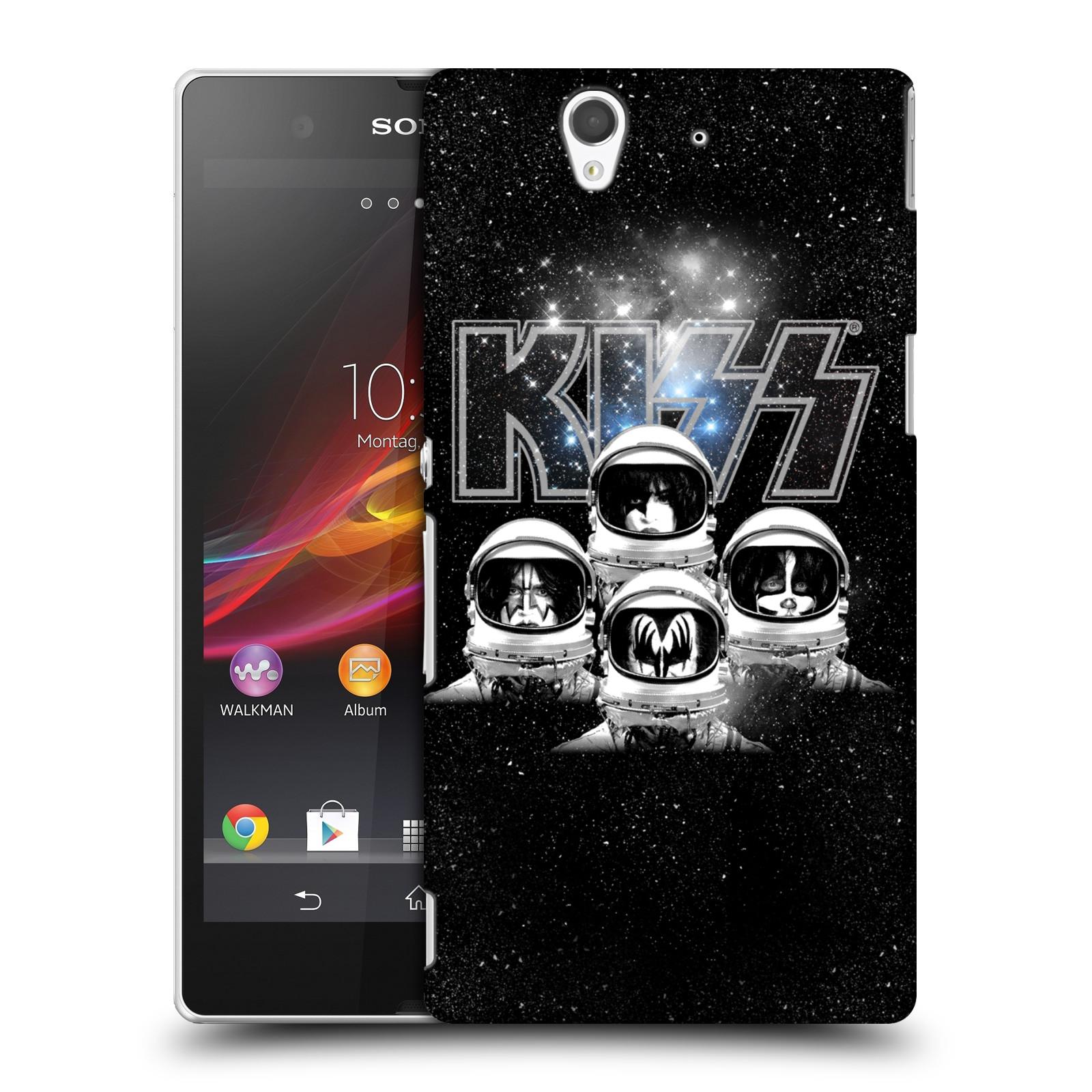 Plastové pouzdro na mobil Sony Xperia Z C6603 HEAD CASE - Kiss - Galactic (Plastový kryt či obal na mobilní telefon s licencovaným motivem Kiss pro Sony Xperia Z)