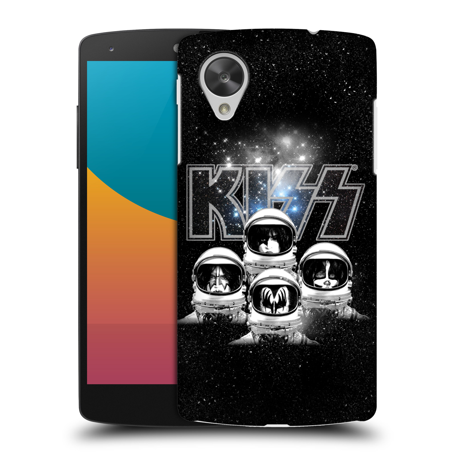 Plastové pouzdro na mobil LG Nexus 5 HEAD CASE - Kiss - Galactic (Plastový kryt či obal na mobilní telefon s licencovaným motivem Kiss pro LG Google Nexus 5 D821)