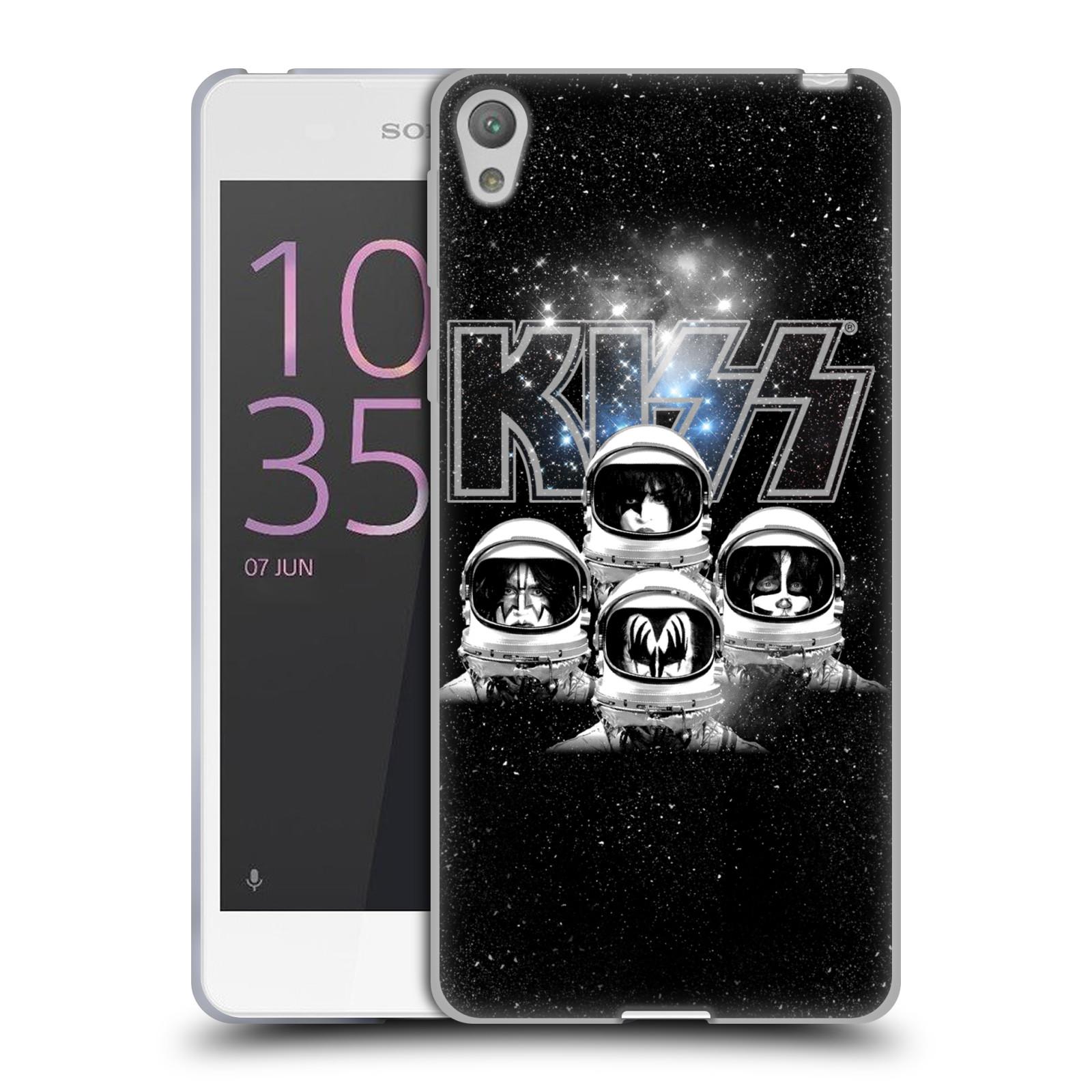Silikonové pouzdro na mobil Sony Xperia E5 HEAD CASE - Kiss - Galactic (Silikonový kryt či obal na mobilní telefon s licencovaným motivem Kiss pro Sony Xperia E5 F3311)