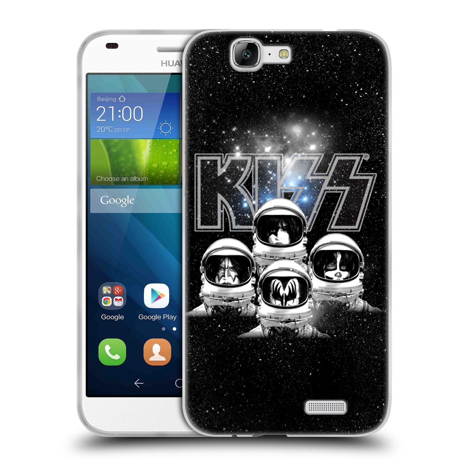 Silikonové pouzdro na mobil Huawei Ascend G7 HEAD CASE - Kiss - Galactic (Silikonový kryt či obal na mobilní telefon s licencovaným motivem Kiss pro Huawei Ascend G7)