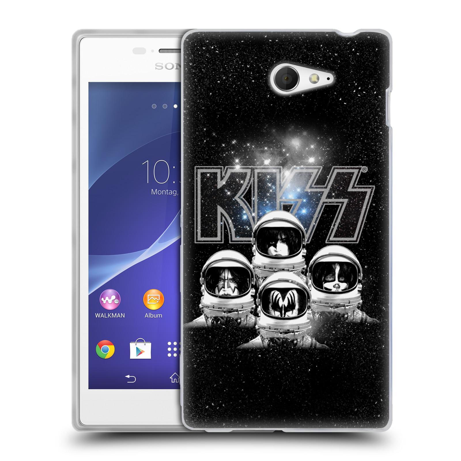 Silikonové pouzdro na mobil Sony Xperia M2 D2303 HEAD CASE - Kiss - Galactic (Silikonový kryt či obal na mobilní telefon s licencovaným motivem Kiss pro Sony Xperia M2)