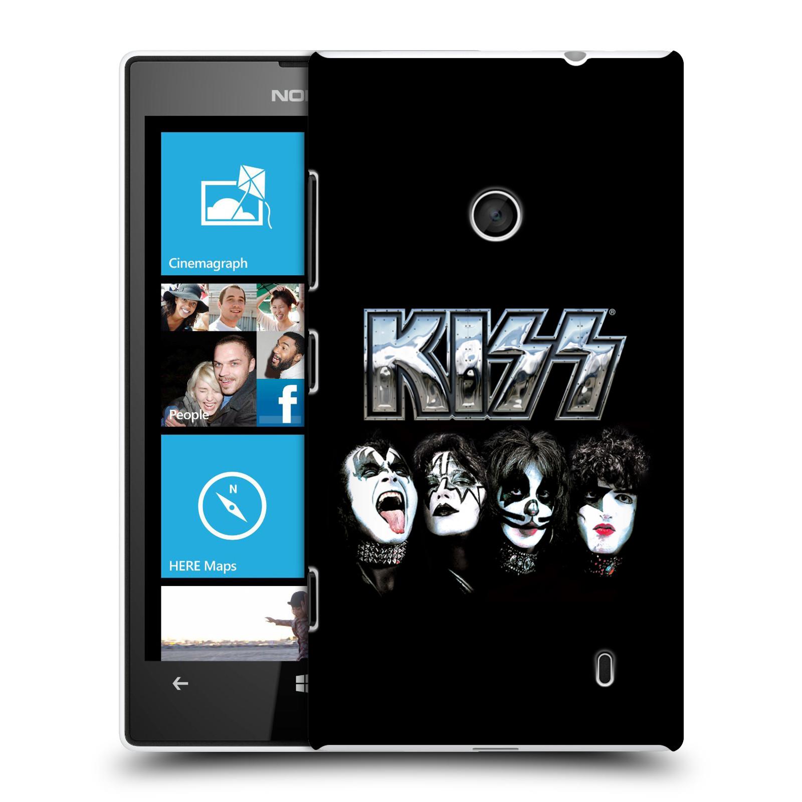 Plastové pouzdro na mobil Nokia Lumia 520 HEAD CASE - Kiss - Vegas