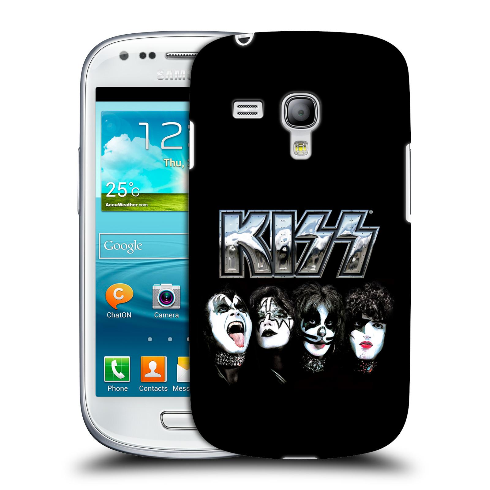 Silikonové pouzdro na mobil Samsung Galaxy S III Mini VE HEAD CASE - Kiss - Vegas (Plastový kryt či obal na mobilní telefon s licencovaným motivem Kiss pro Samsung Galaxy S3 Mini VE GT-i8200)