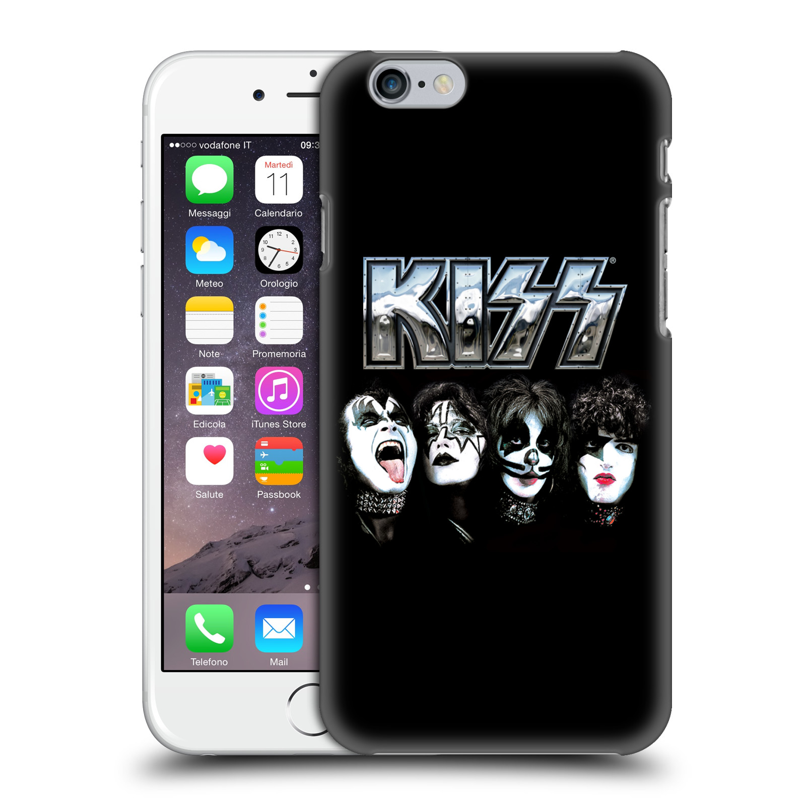 Plastové pouzdro na mobil Apple iPhone 6 HEAD CASE - Kiss - Vegas