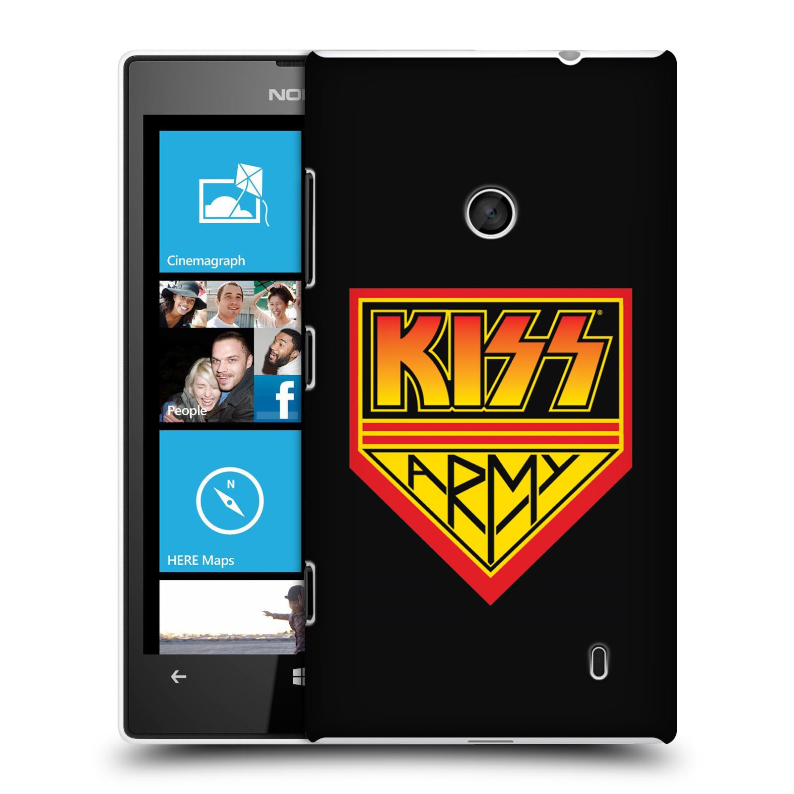 Plastové pouzdro na mobil Nokia Lumia 520 HEAD CASE - Kiss Army
