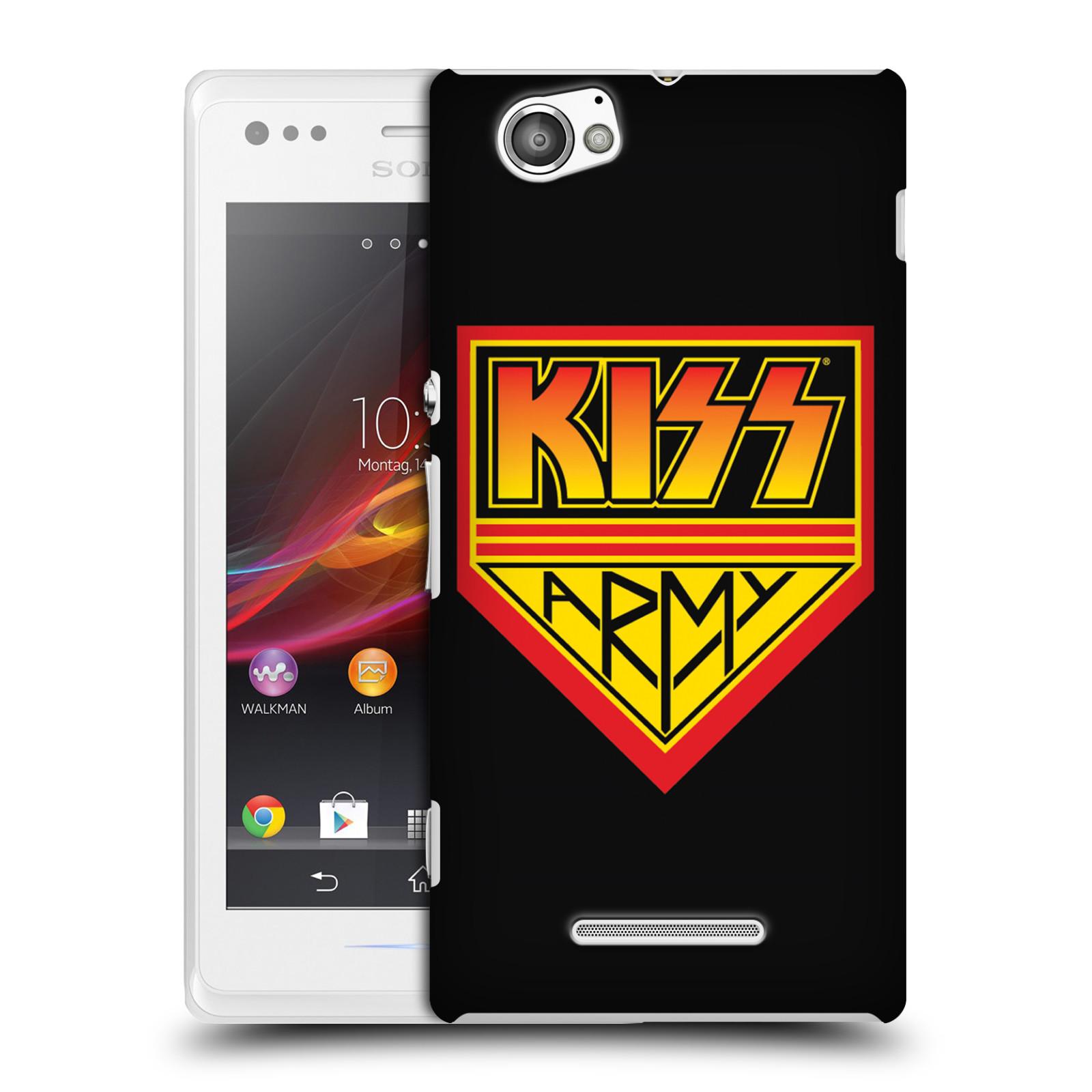 Plastové pouzdro na mobil Sony Xperia M C1905 HEAD CASE - Kiss Army (Plastový kryt či obal na mobilní telefon s licencovaným motivem Kiss pro Sony Xperia M )