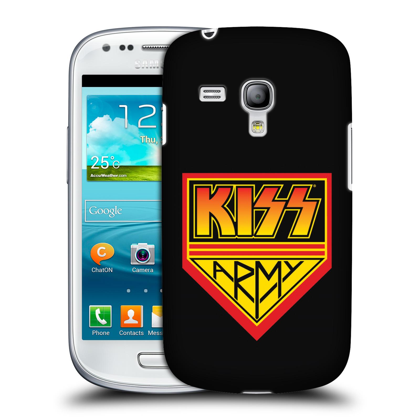 Silikonové pouzdro na mobil Samsung Galaxy S III Mini VE HEAD CASE - Kiss Army (Plastový kryt či obal na mobilní telefon s licencovaným motivem Kiss pro Samsung Galaxy S3 Mini VE GT-i8200)