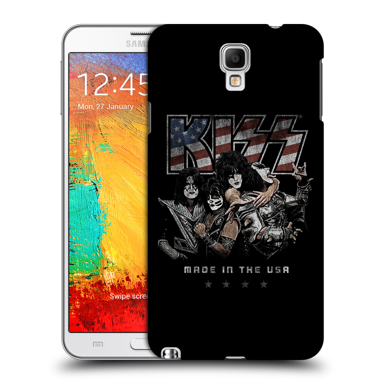 Plastové pouzdro na mobil Samsung Galaxy Note 3 Neo HEAD CASE - Kiss - MADE IN THE USA