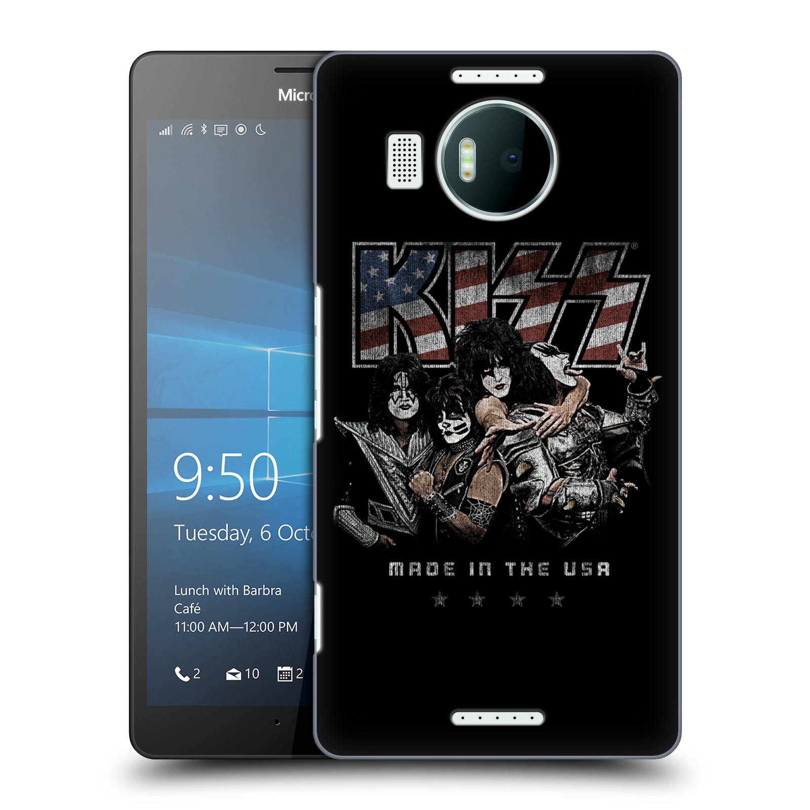 Plastové pouzdro na mobil Microsoft Lumia 950 XL HEAD CASE - Kiss - MADE IN THE USA