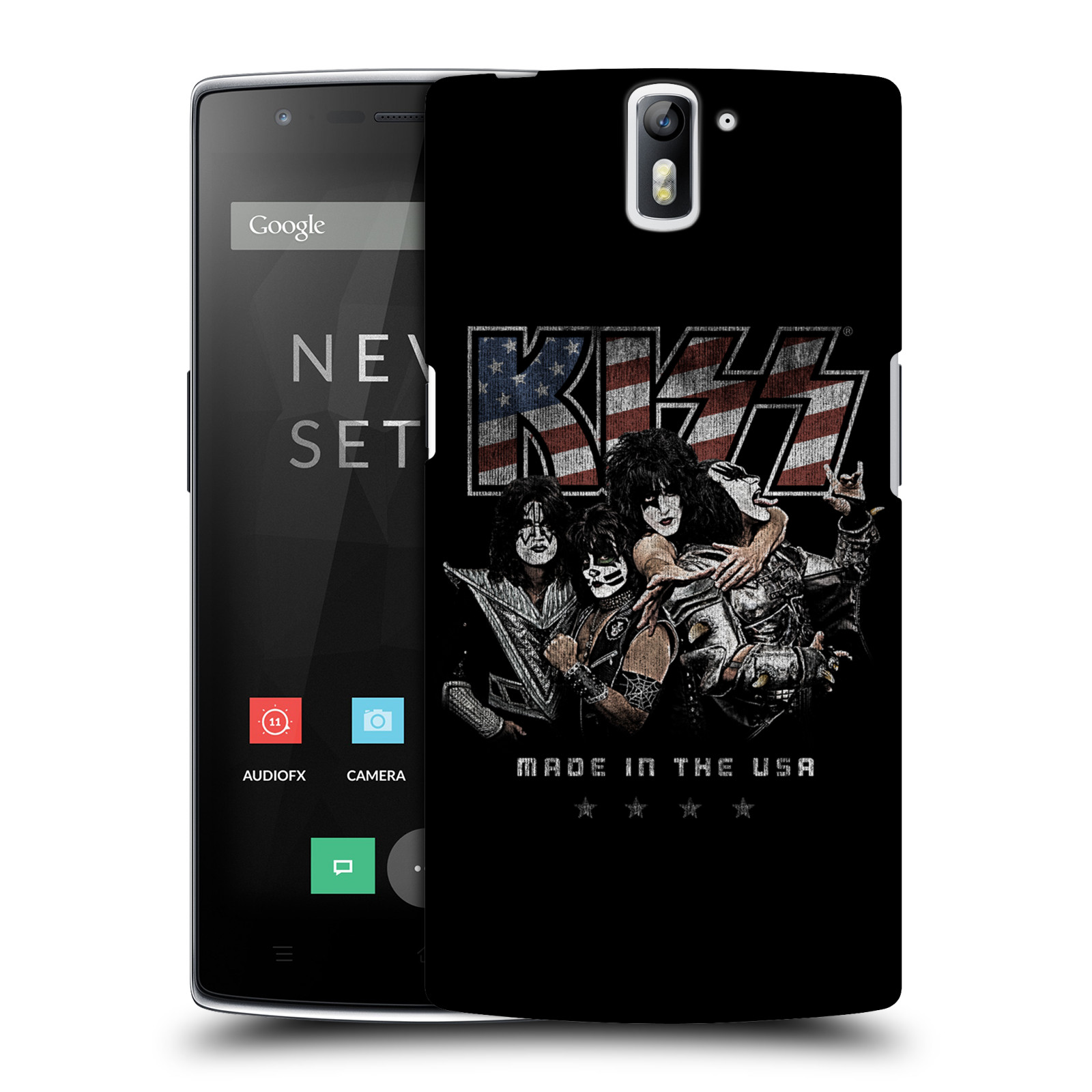 Plastové pouzdro na mobil OnePlus One HEAD CASE - Kiss - MADE IN THE USA