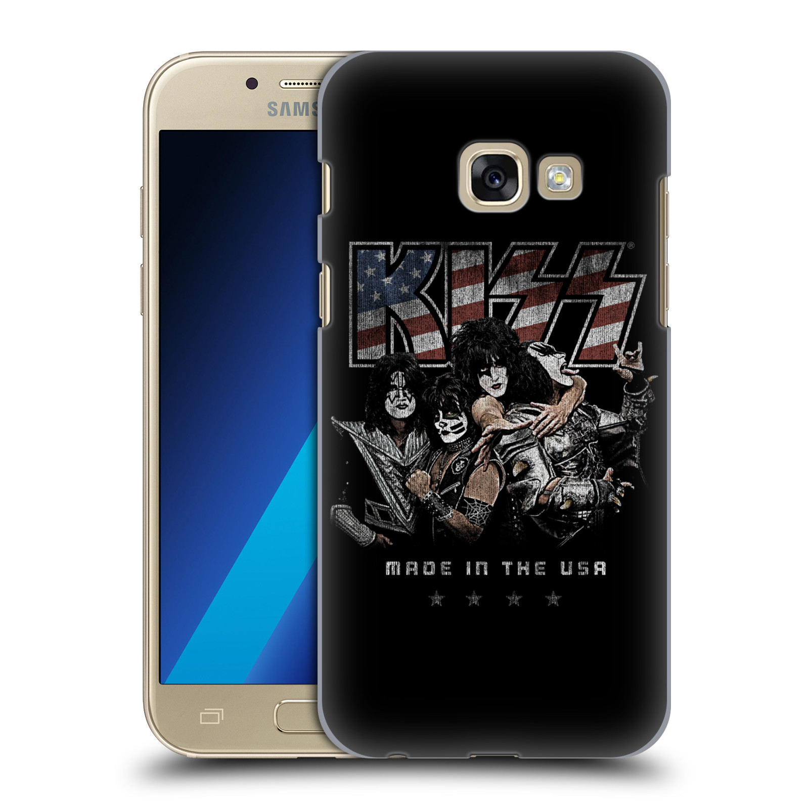 Plastové pouzdro na mobil Samsung Galaxy A3 (2017) HEAD CASE - Kiss - MADE IN THE USA