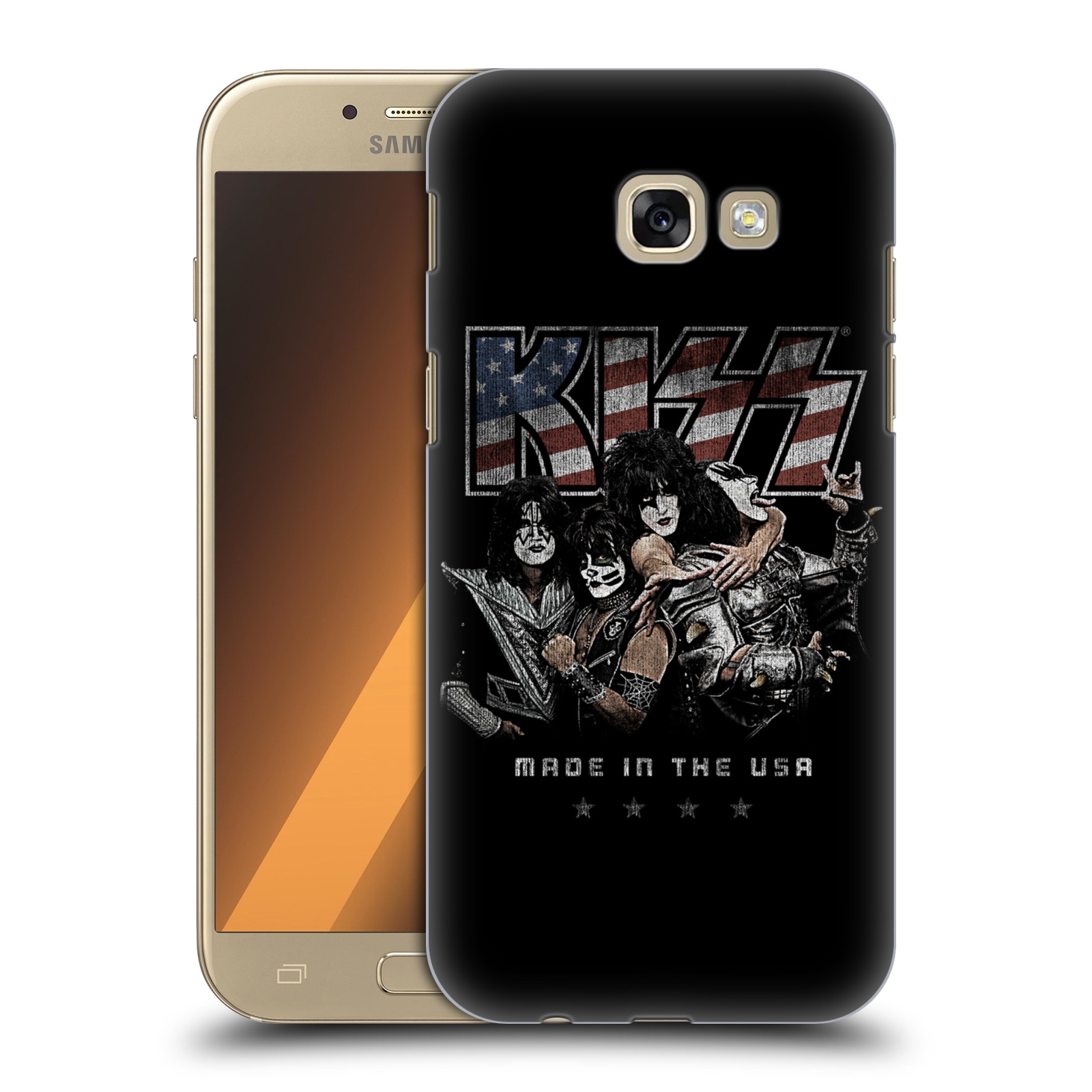 Plastové pouzdro na mobil Samsung Galaxy A5 (2017) HEAD CASE - Kiss - MADE IN THE USA