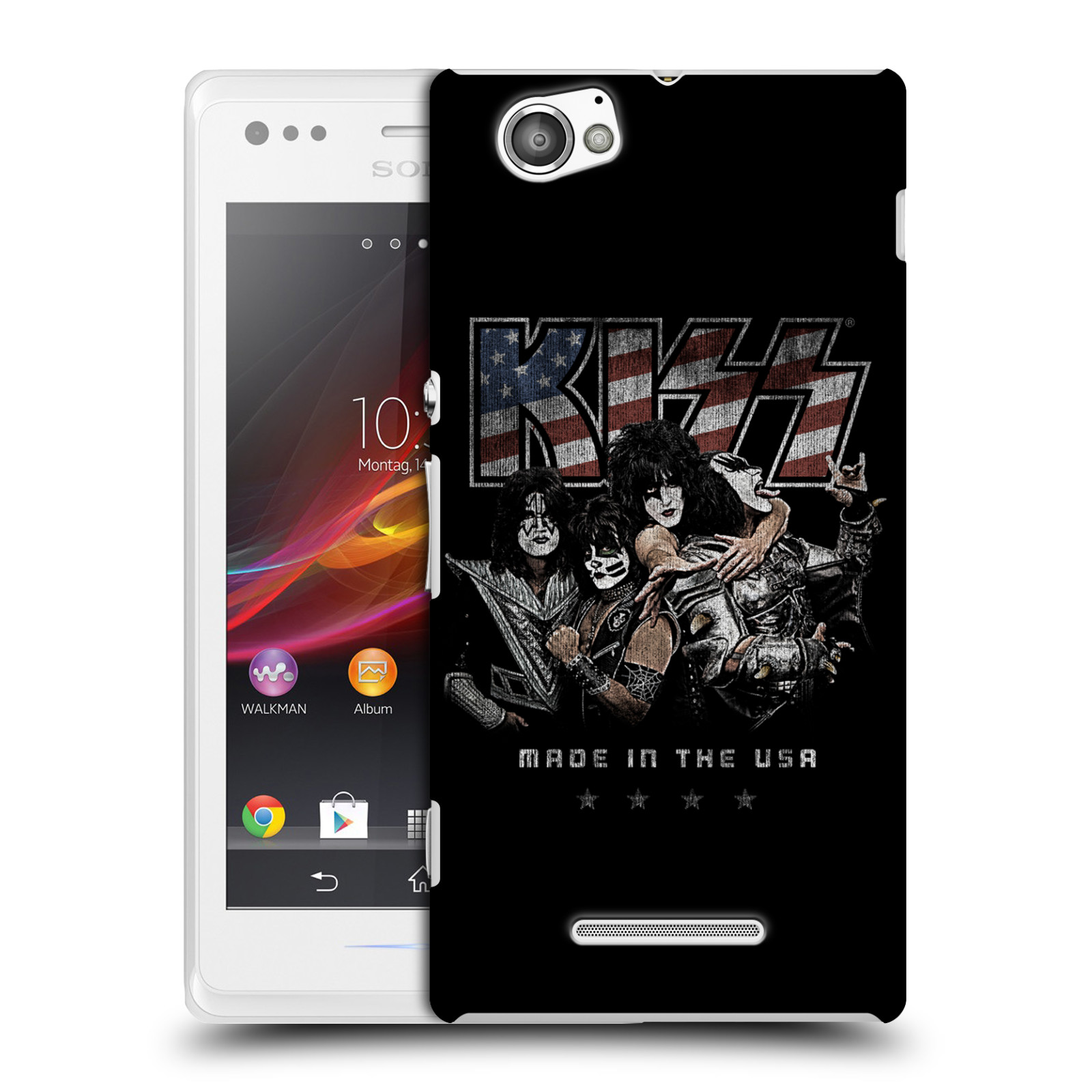 Plastové pouzdro na mobil Sony Xperia M C1905 HEAD CASE - Kiss - MADE IN THE USA