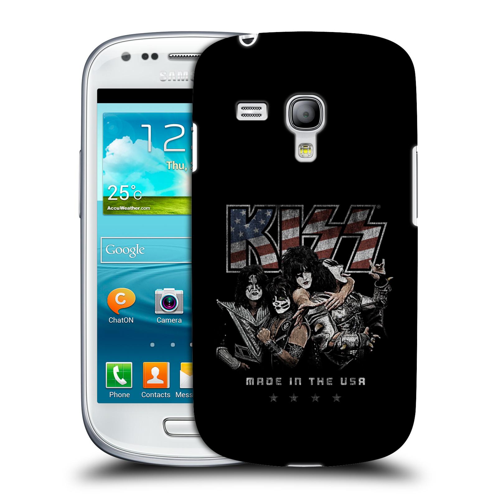 Silikonové pouzdro na mobil Samsung Galaxy S III Mini VE HEAD CASE - Kiss - MADE IN THE USA (Plastový kryt či obal na mobilní telefon s licencovaným motivem Kiss pro Samsung Galaxy S3 Mini VE GT-i8200)