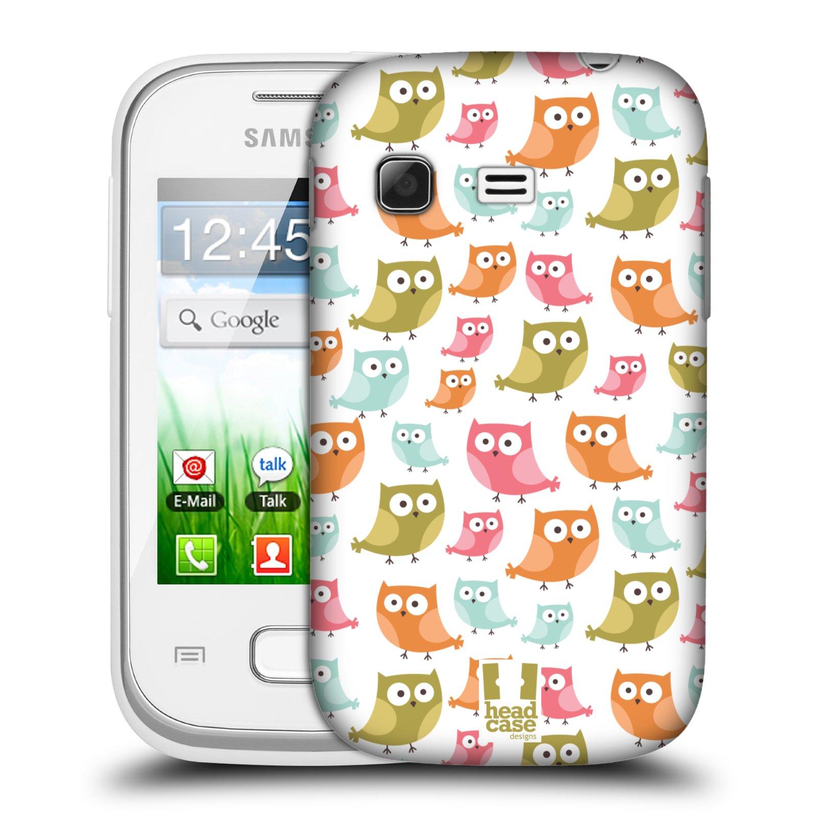 Plastové pouzdro na mobil Samsung Galaxy Pocket HEAD CASE SOVIČKY ZMATENÉ (Kryt či obal na mobilní telefon Samsung Galaxy Pocket GT-S5300)