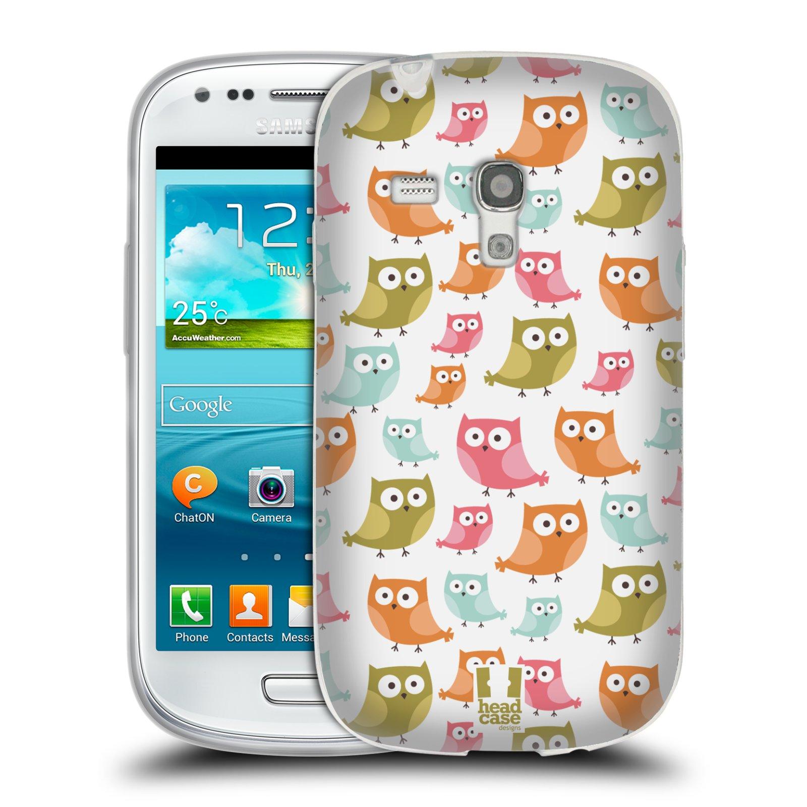 Silikonové pouzdro na mobil Samsung Galaxy S III Mini HEAD CASE SOVIČKY ZMATENÉ (Silikonový kryt či obal na mobilní telefon Samsung Galaxy S III Mini GT-i8190)