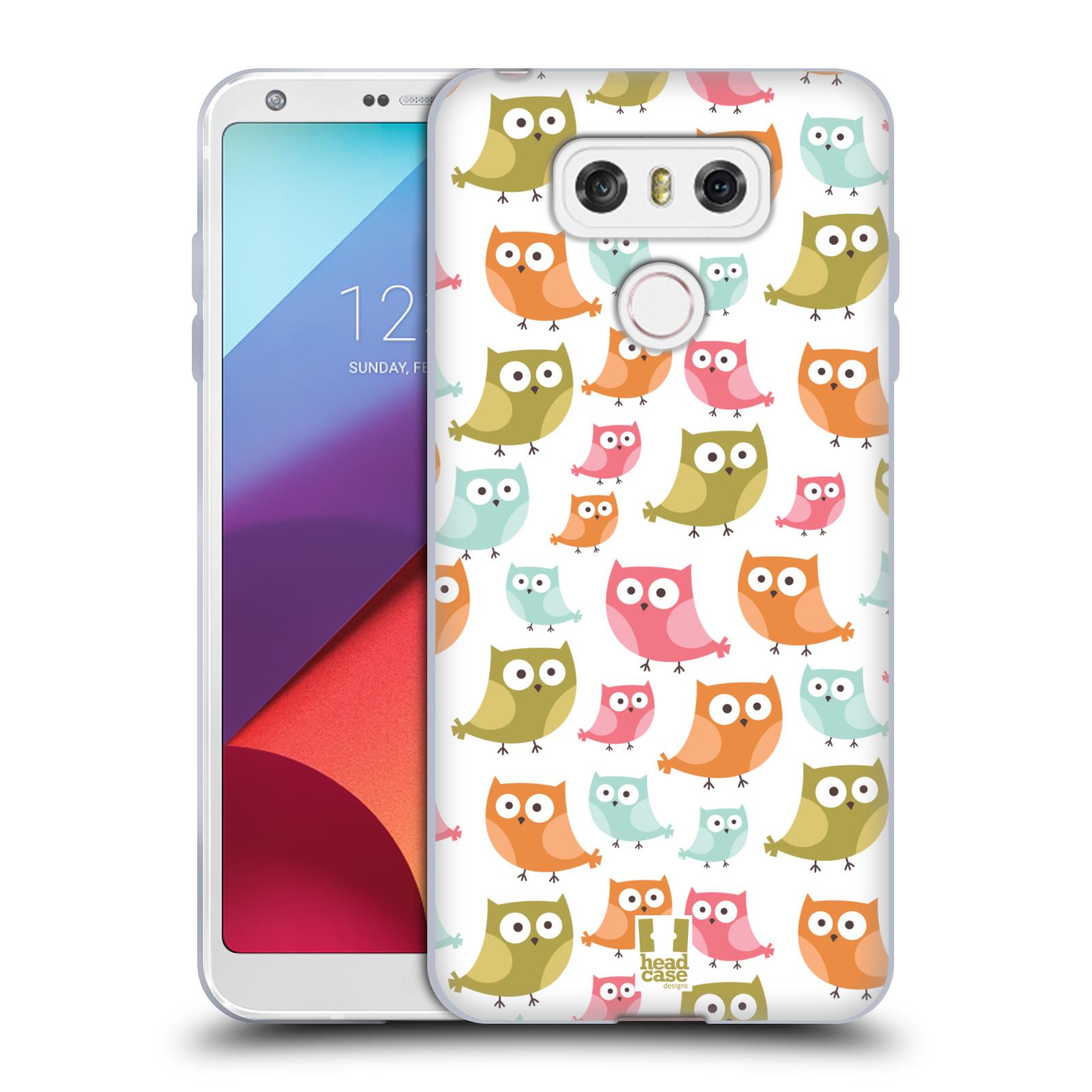 Silikonové pouzdro na mobil LG G6 - Head Case SOVIČKY ZMATENÉ (Silikonový kryt či obal na mobilní telefon LG G6 H870 / LG G6 Dual SIM H870DS)
