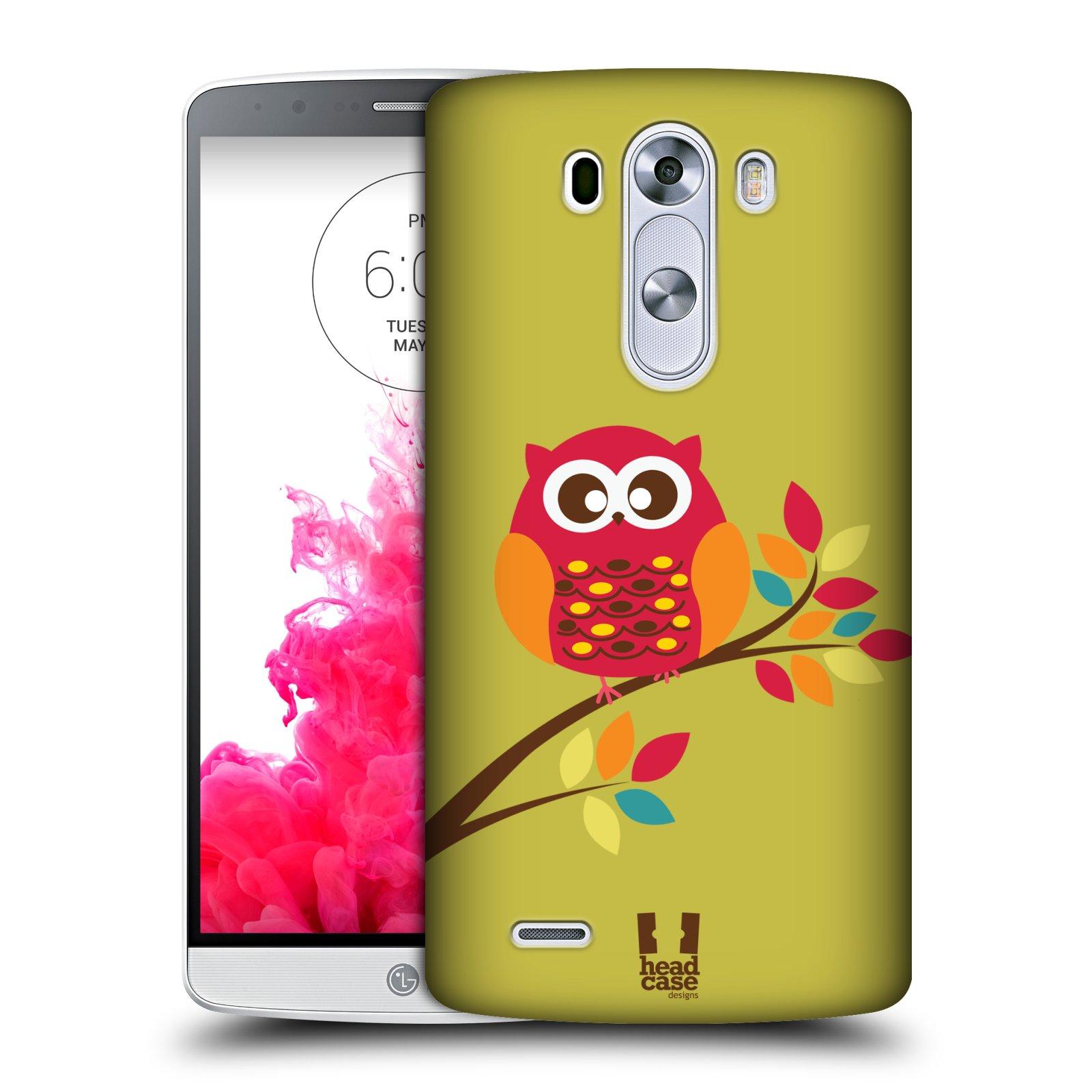 Plastové pouzdro na mobil LG G3 HEAD CASE SOVIČKA NA VĚTVI (Kryt či obal na mobilní telefon LG G3 D855)